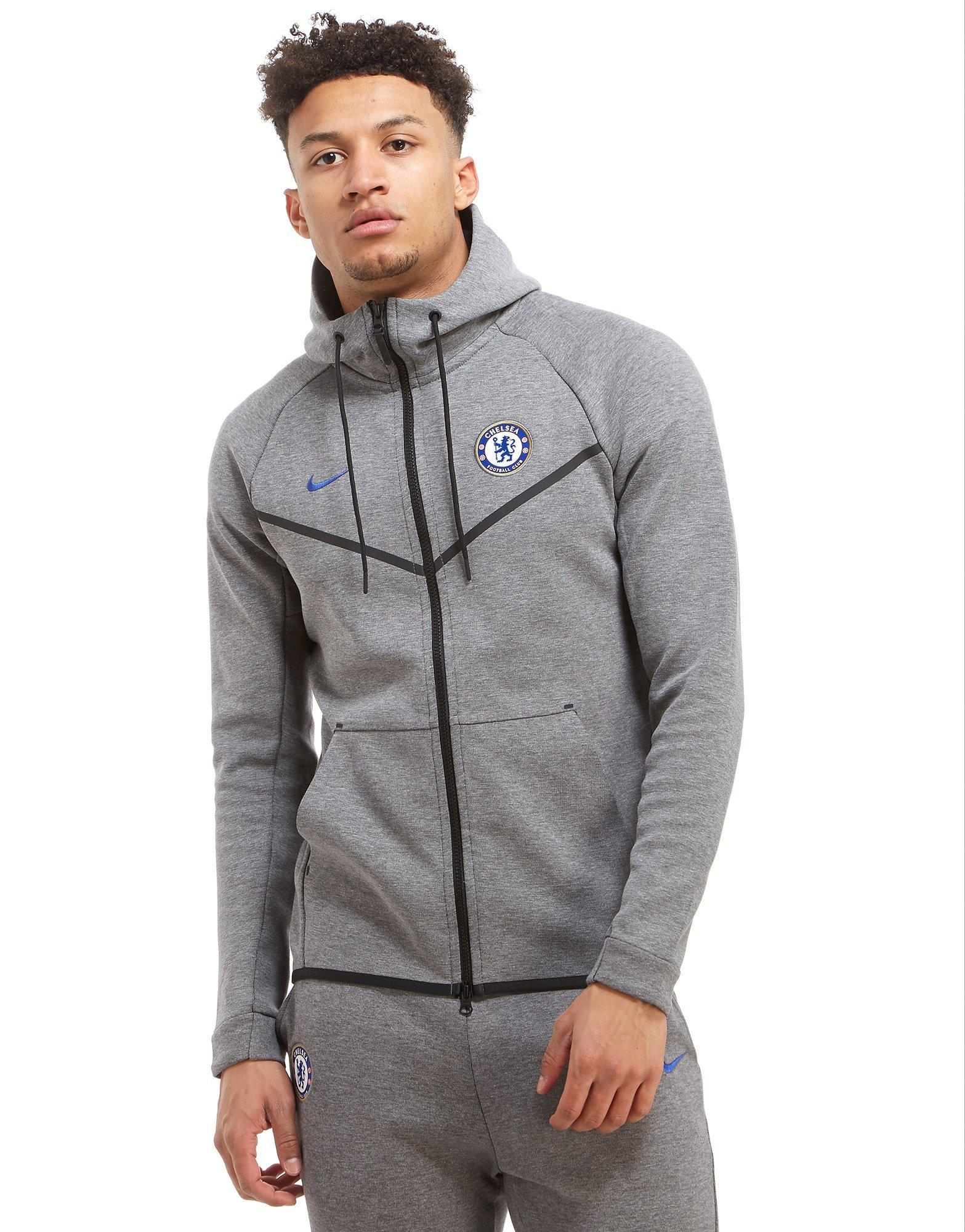 5c21ba3c5d Nike Chelsea Fc Tech Fleece Hoodie in Gray for Men - Lyst