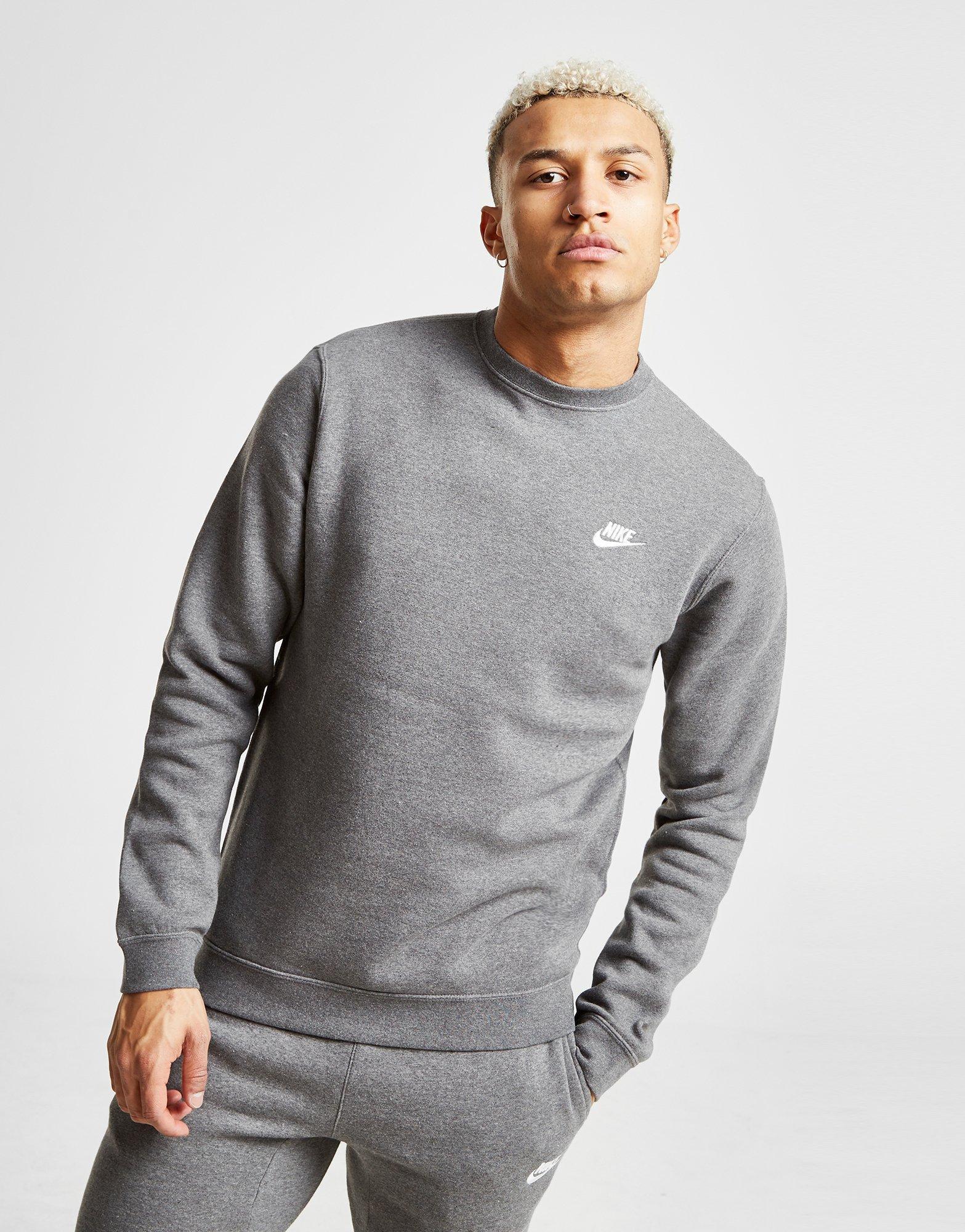 131b6a4b Lyst - Nike Foundation Crew Sweatshirt in Gray for Men