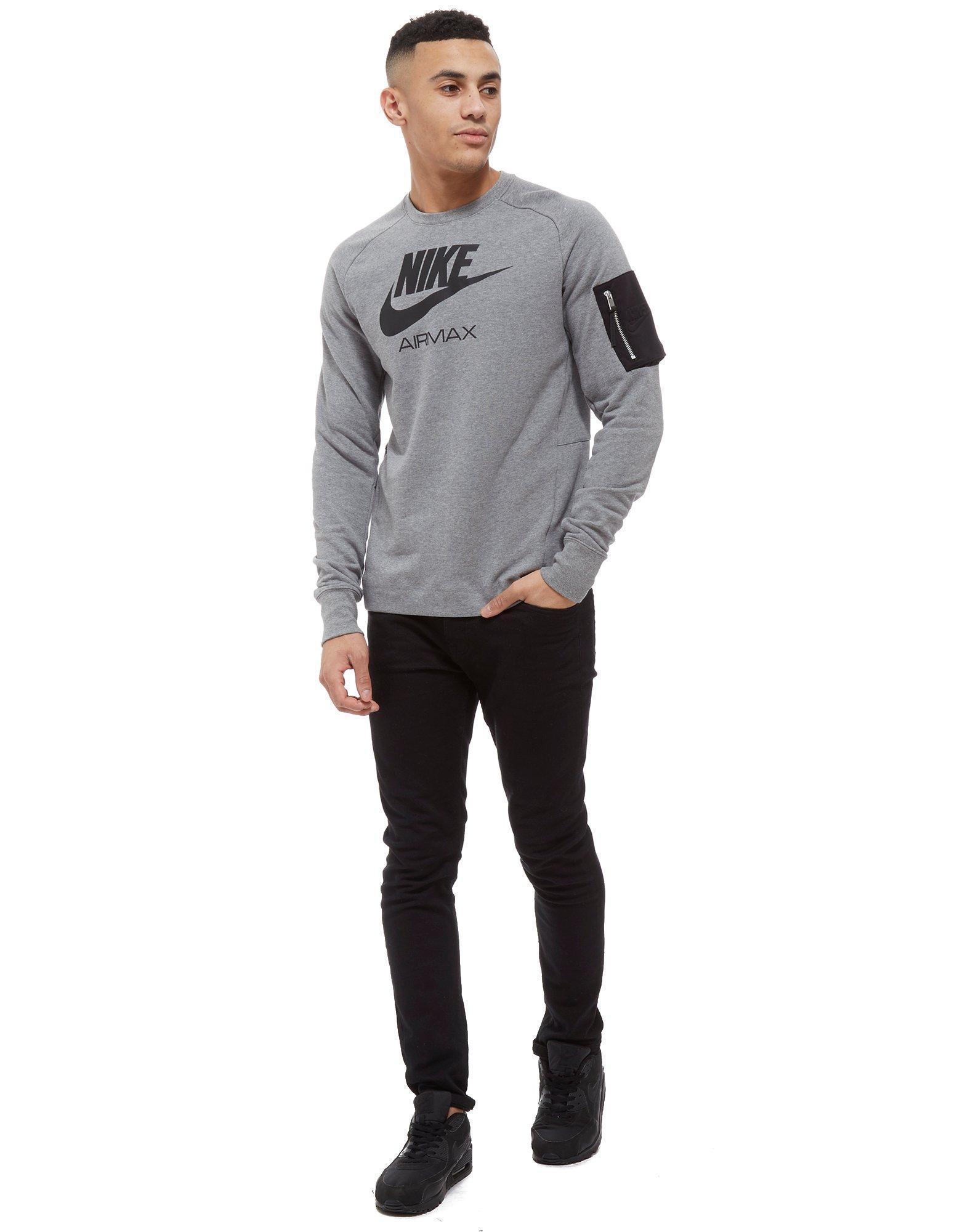Nike Cotton Air Max Ft Crew Sweatshirt