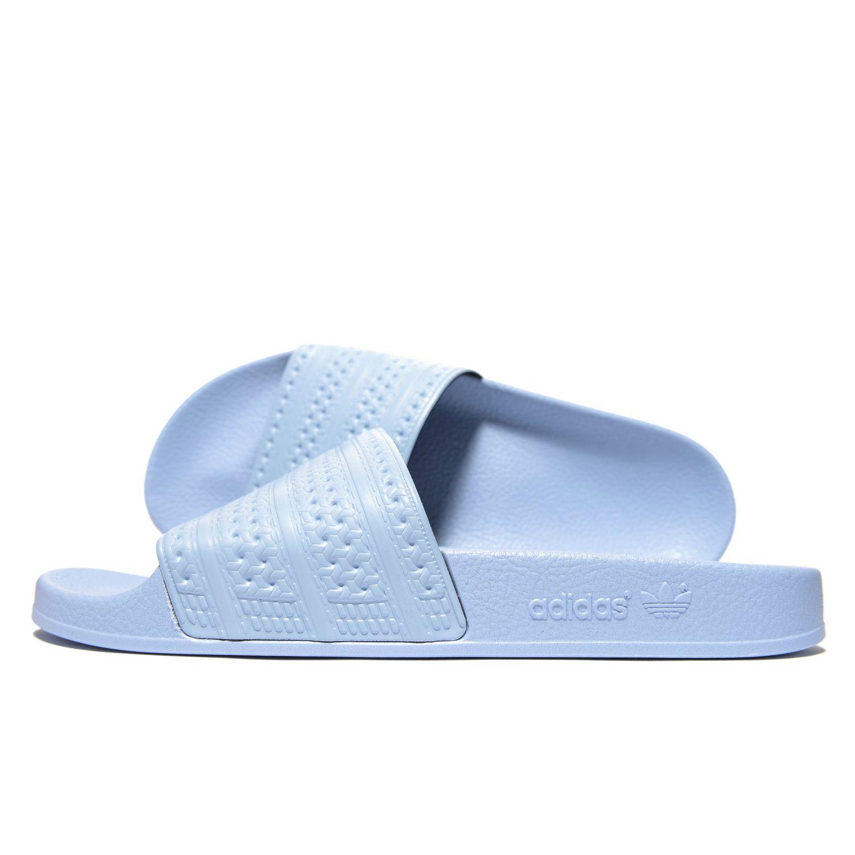 8d89231a9 adidas Originals Adilette Slides in Blue for Men - Save 90% - Lyst