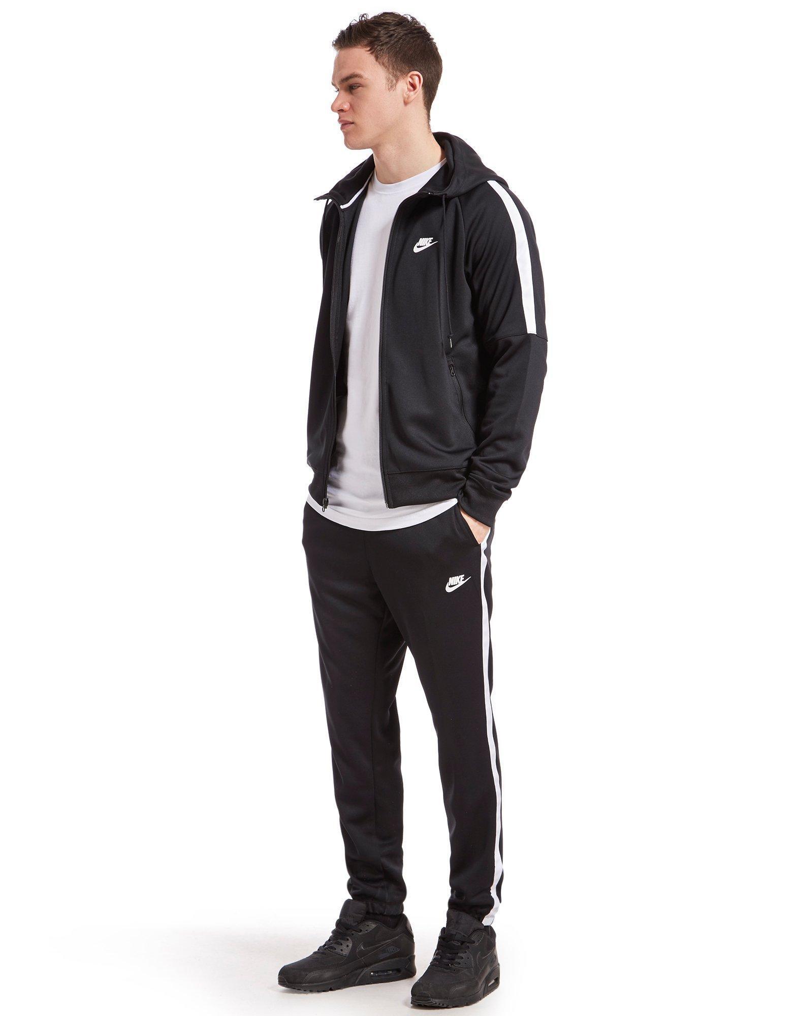 Nike Tribute Full Zip Poly Hoody in Black for Men - Lyst 334572431
