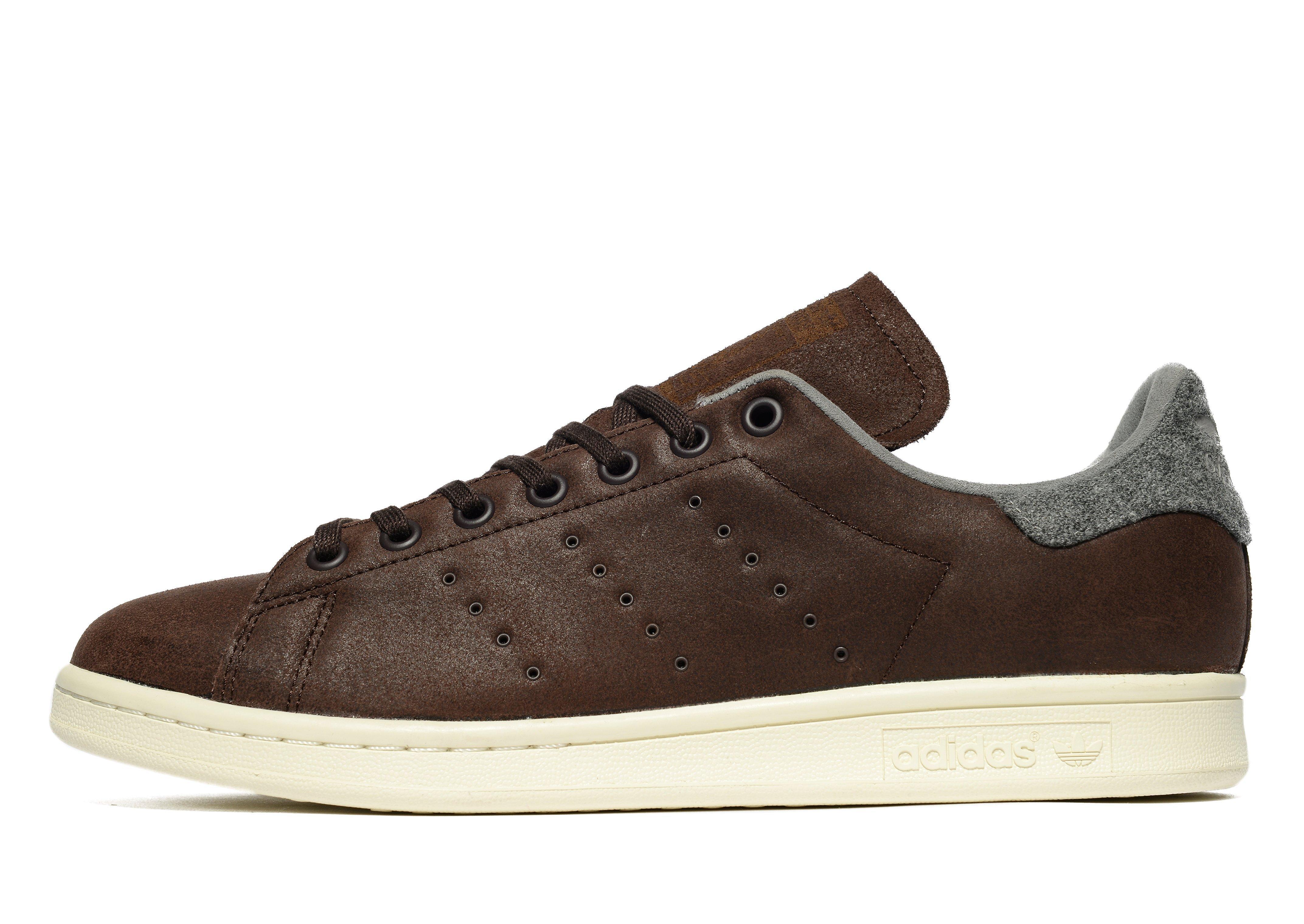 adidas Originals Leather Stan Smith Winter in Dark Brown (Brown ...