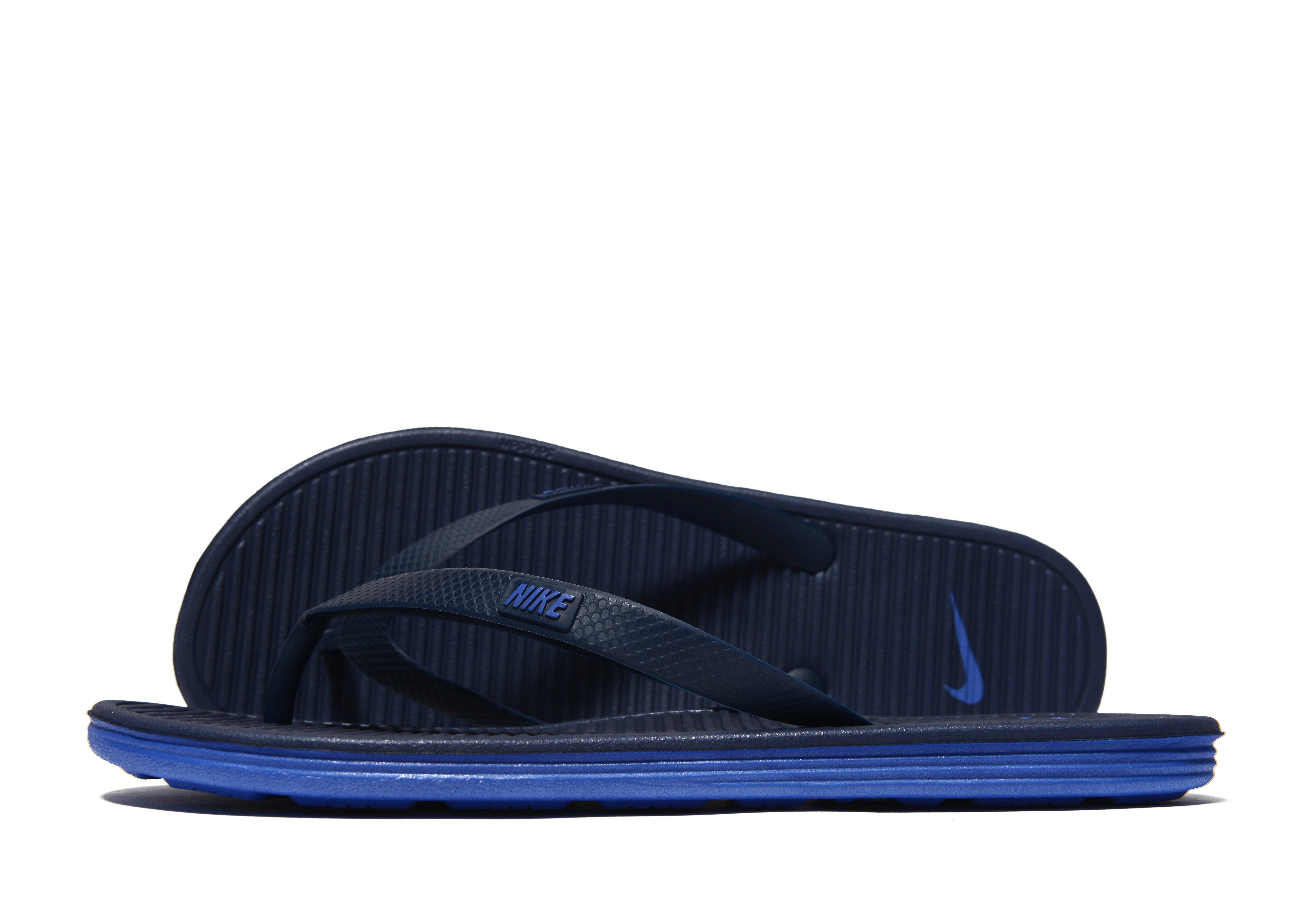 35ed97d0e0f Lyst - Nike Solarsoft Ii Flip Flops in Blue for Men