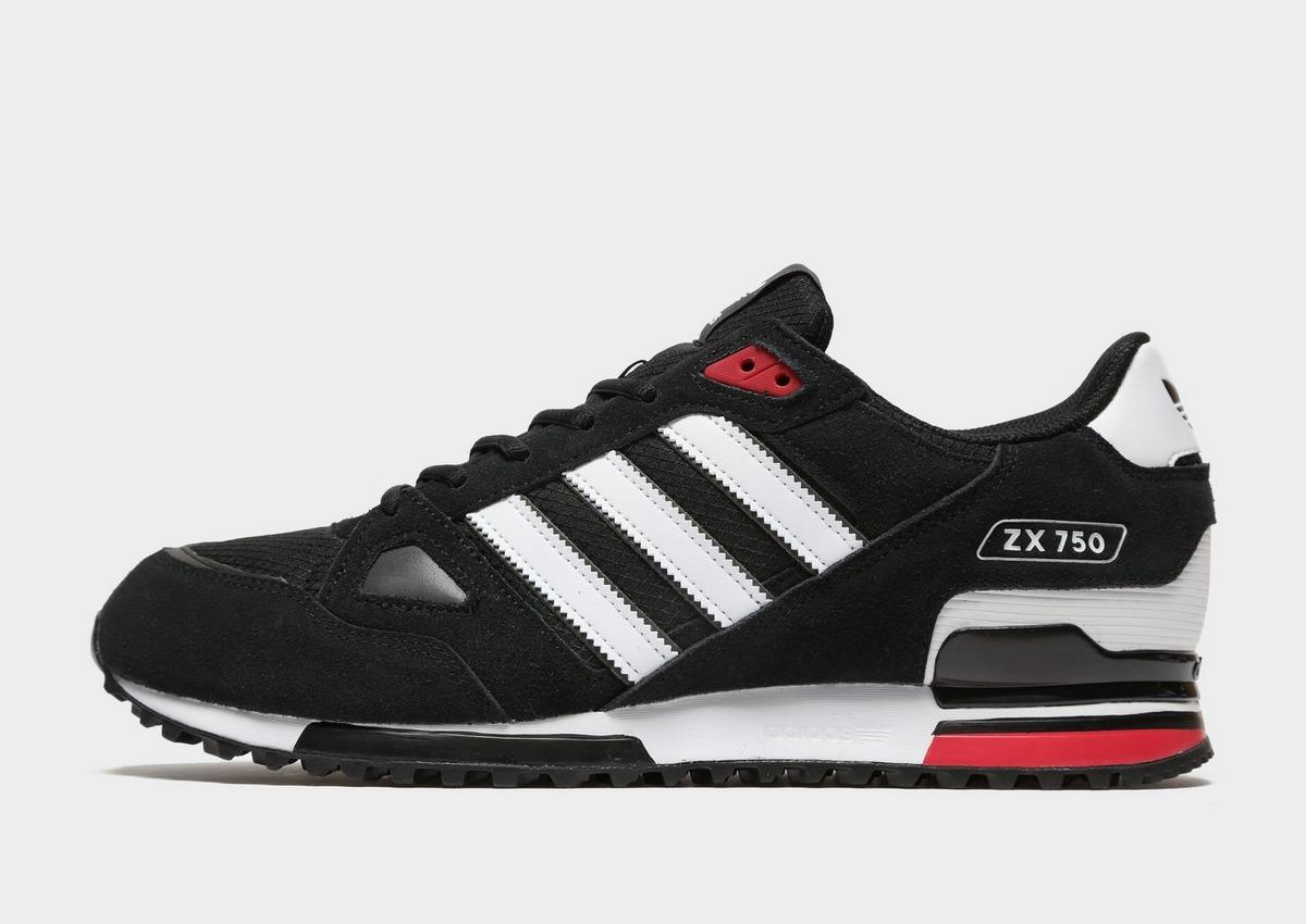adidas Originals Leather Zx 750 in Black/White/Red (Black) for Men ...