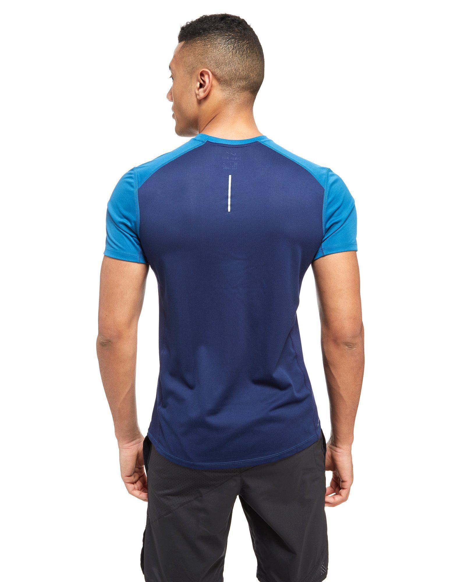 Nike Miler Short Sleeve T Shirt In Blue For Men Lyst