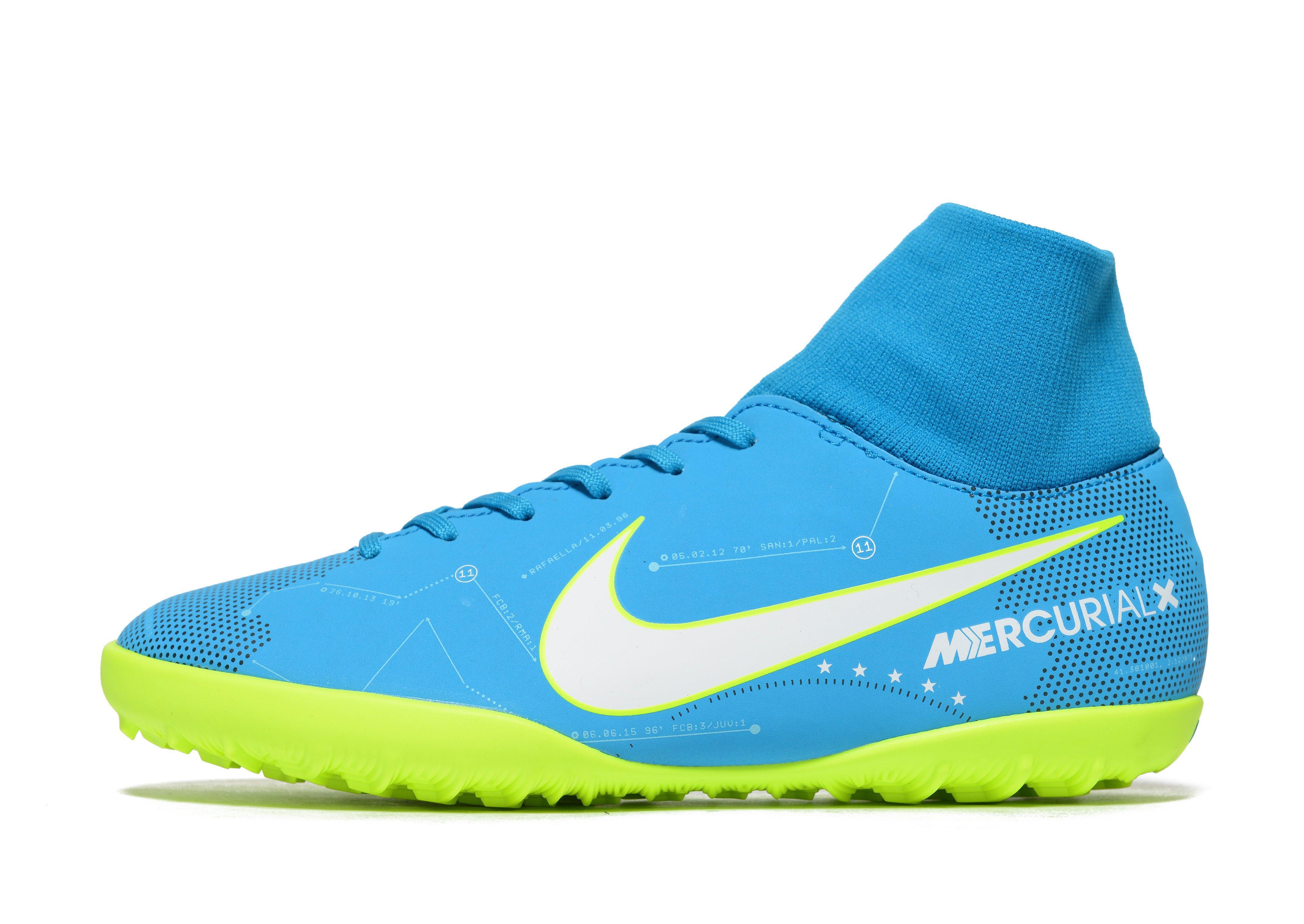 official photos 9ed03 ab0e1 Nike Motion Blur Mercurial Vortex Turf Junior in Blue for Me