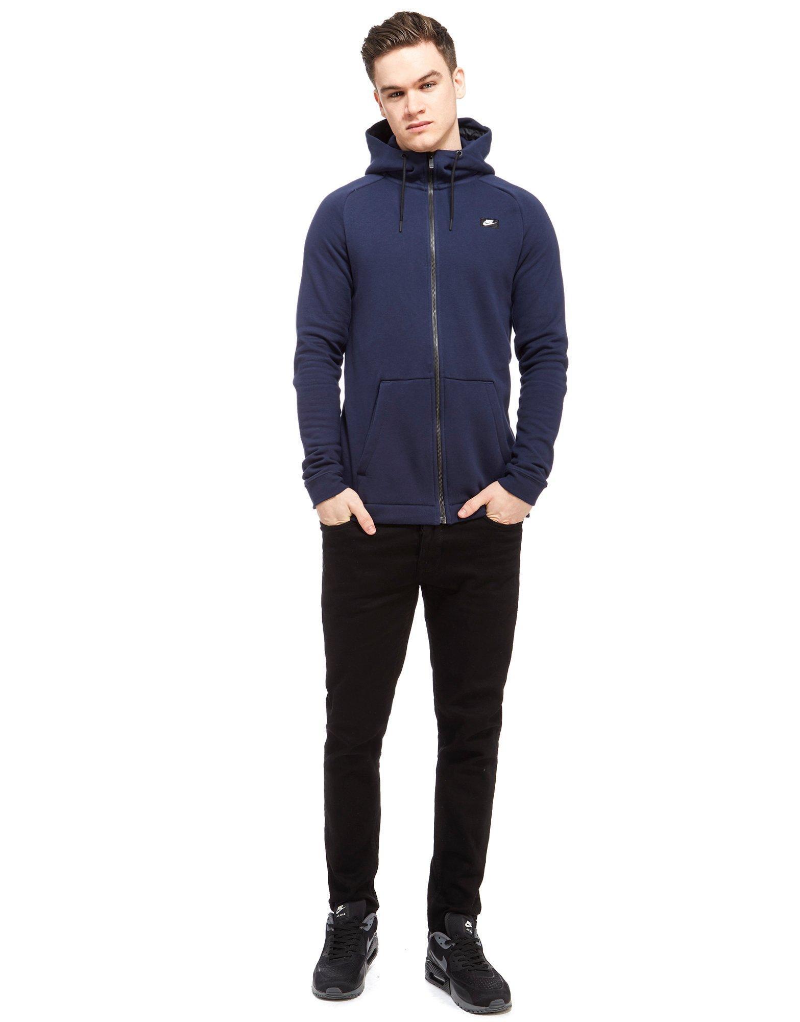 Nike Cotton Modern Hoody in Navy (Blue) for Men