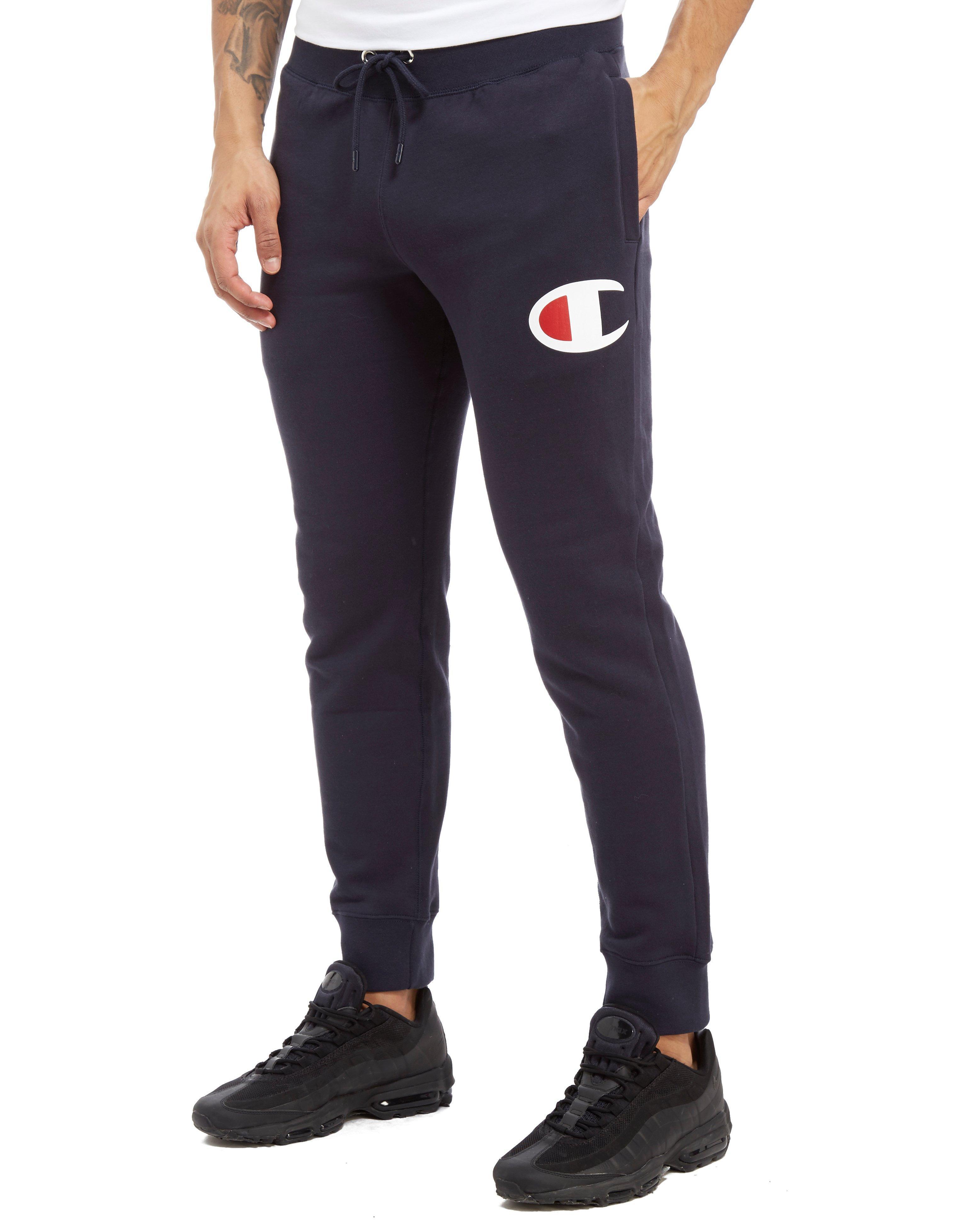 3c310481 Champion Big C Fleece Pants in Blue for Men - Lyst
