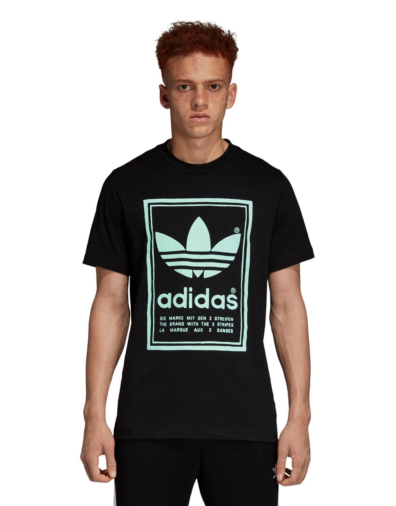 Cesta riesgo Residuos  Adidas Originals Men's VINTAGE T-Shirt Black/Neon DJ2712 c T-Shirts