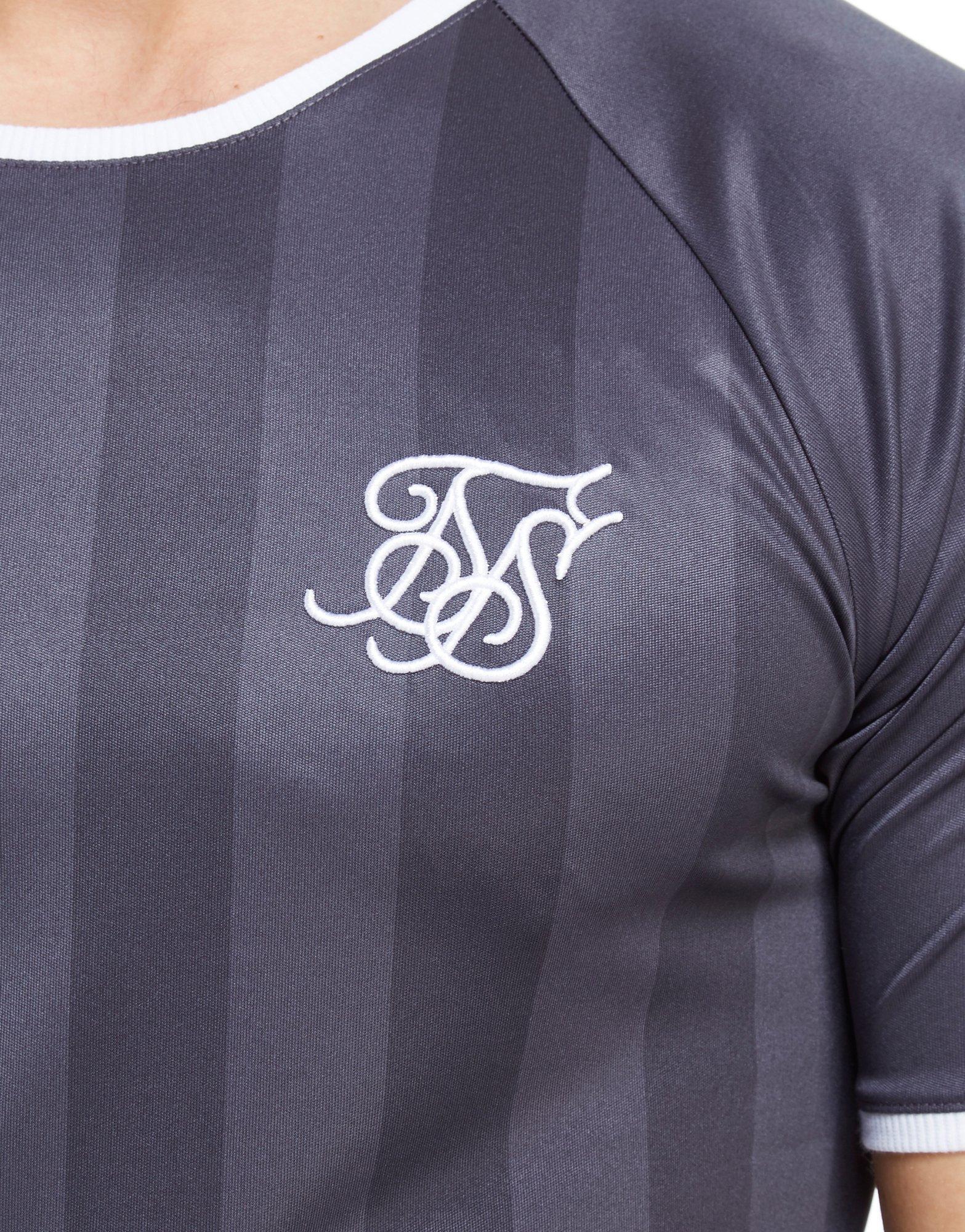 cac2706a0fa86 Lyst - SIKSILK Retro Shadow Stripe T-shirt in Blue for Men