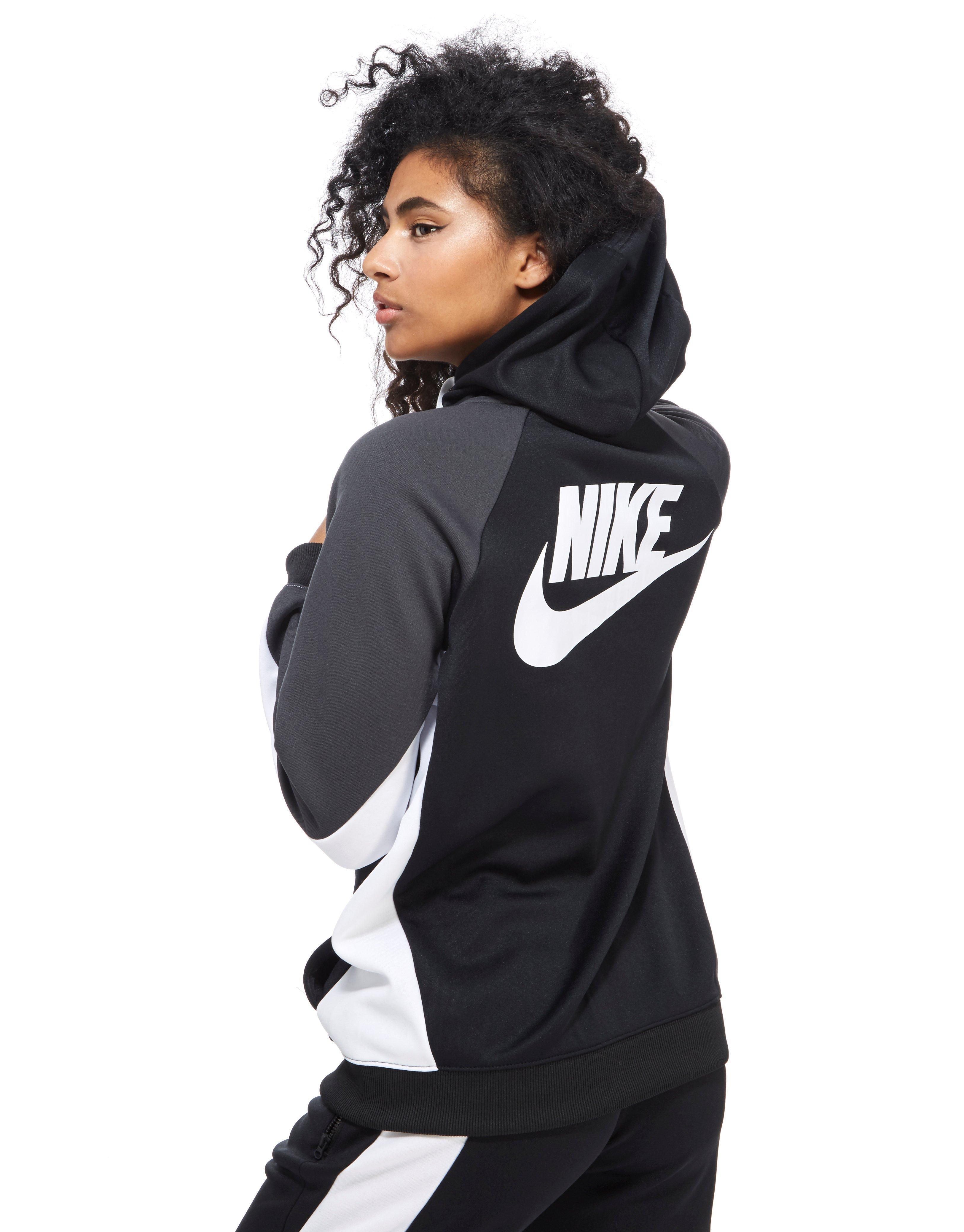 repollo Asser Creación  Nike Synthetic Poly Colour Block Hoody in Black/ Grey/ White ...