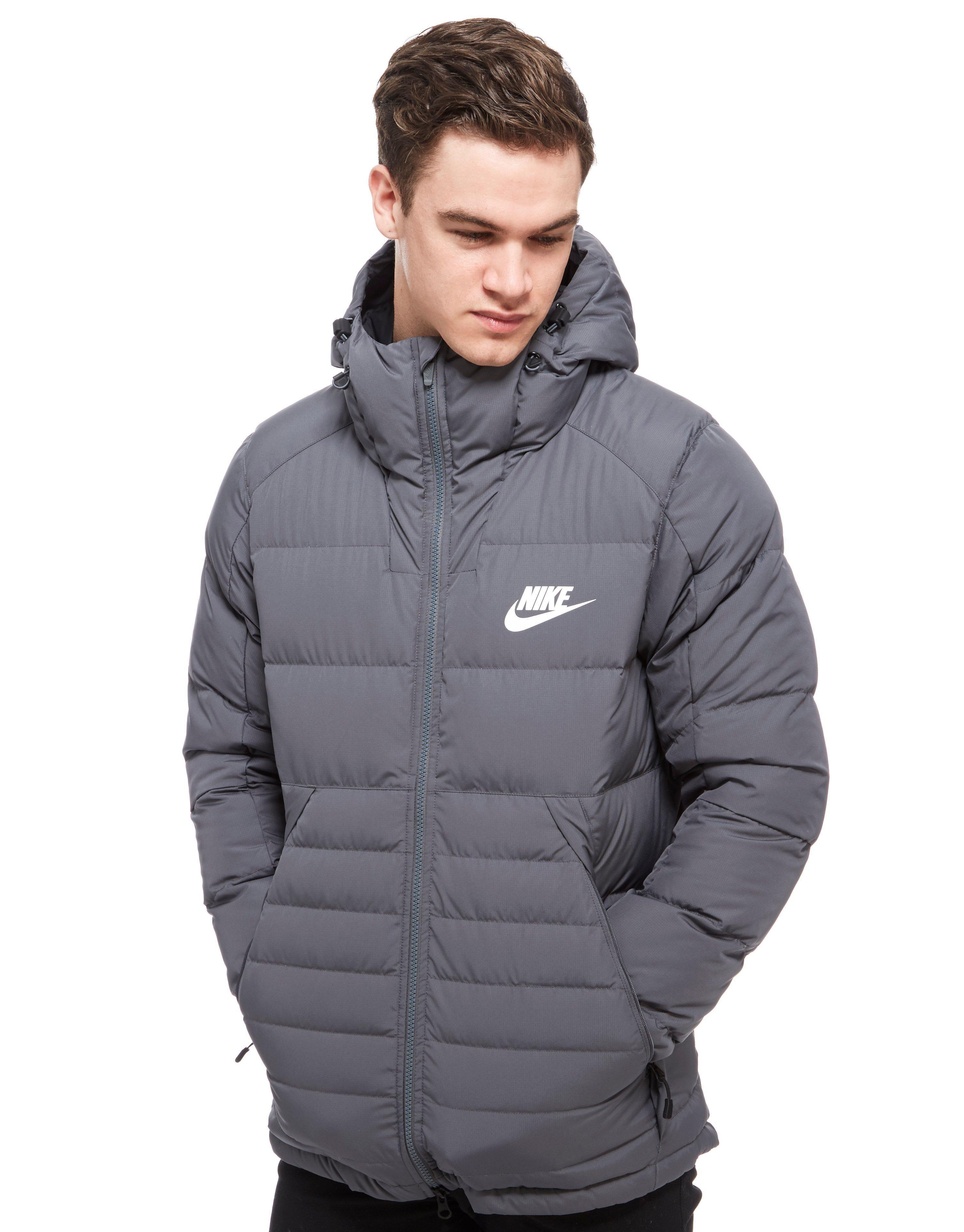 mens nike padded down jacket