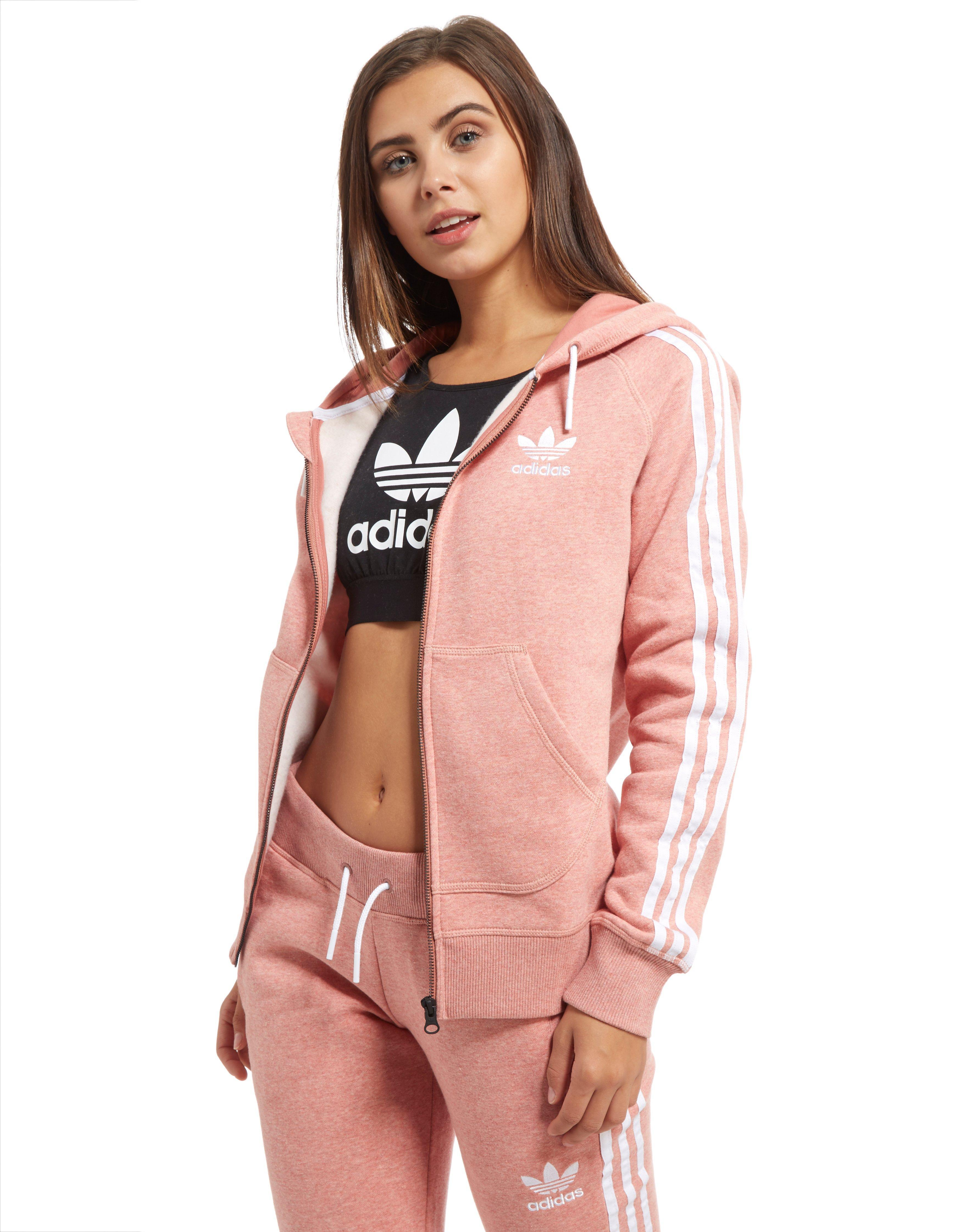 Lyst Adidas Originals California Full Zip Hoodie In Pink