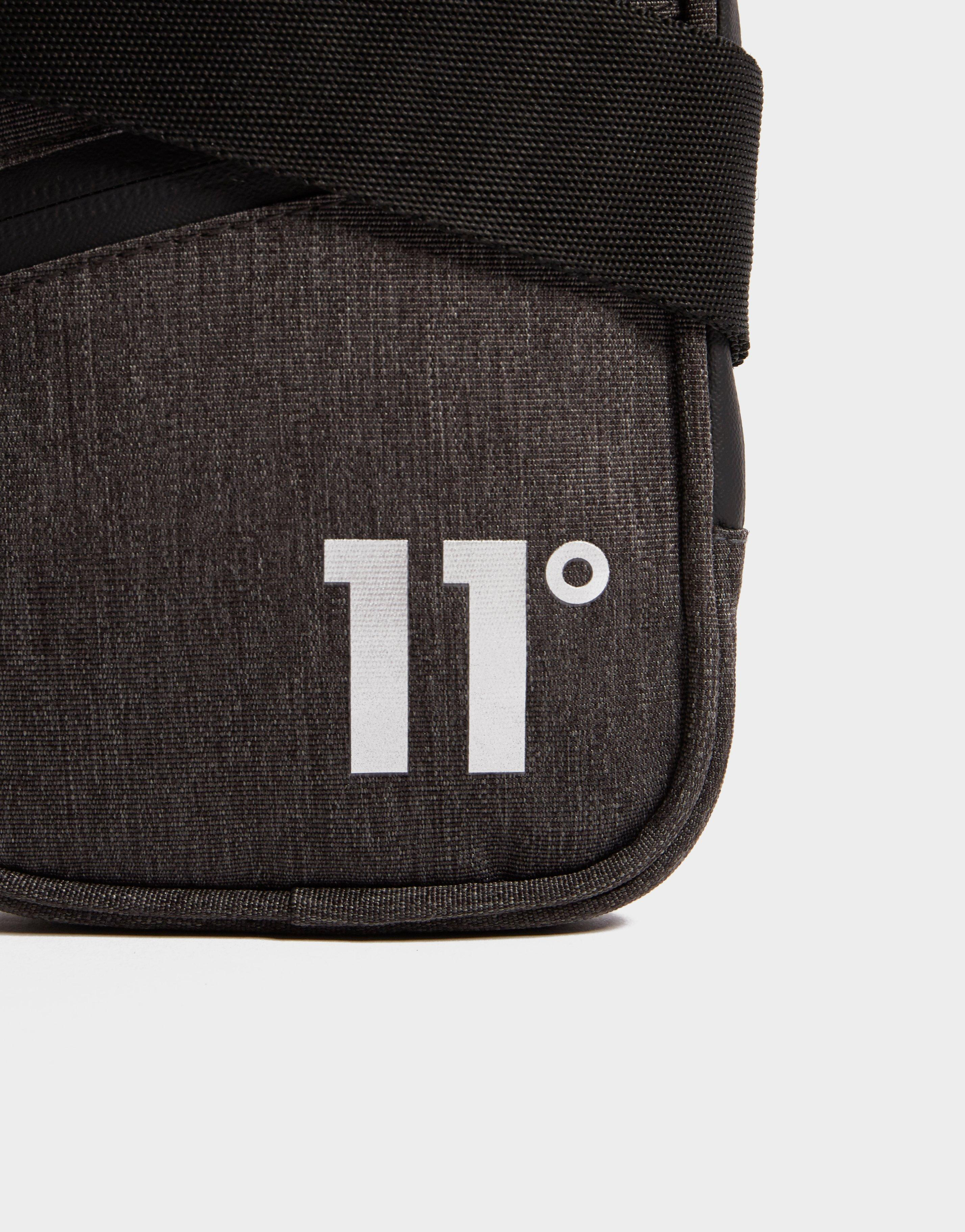 11 Degrees Synthetic Cross Body Bag in Grey (Grey) for Men
