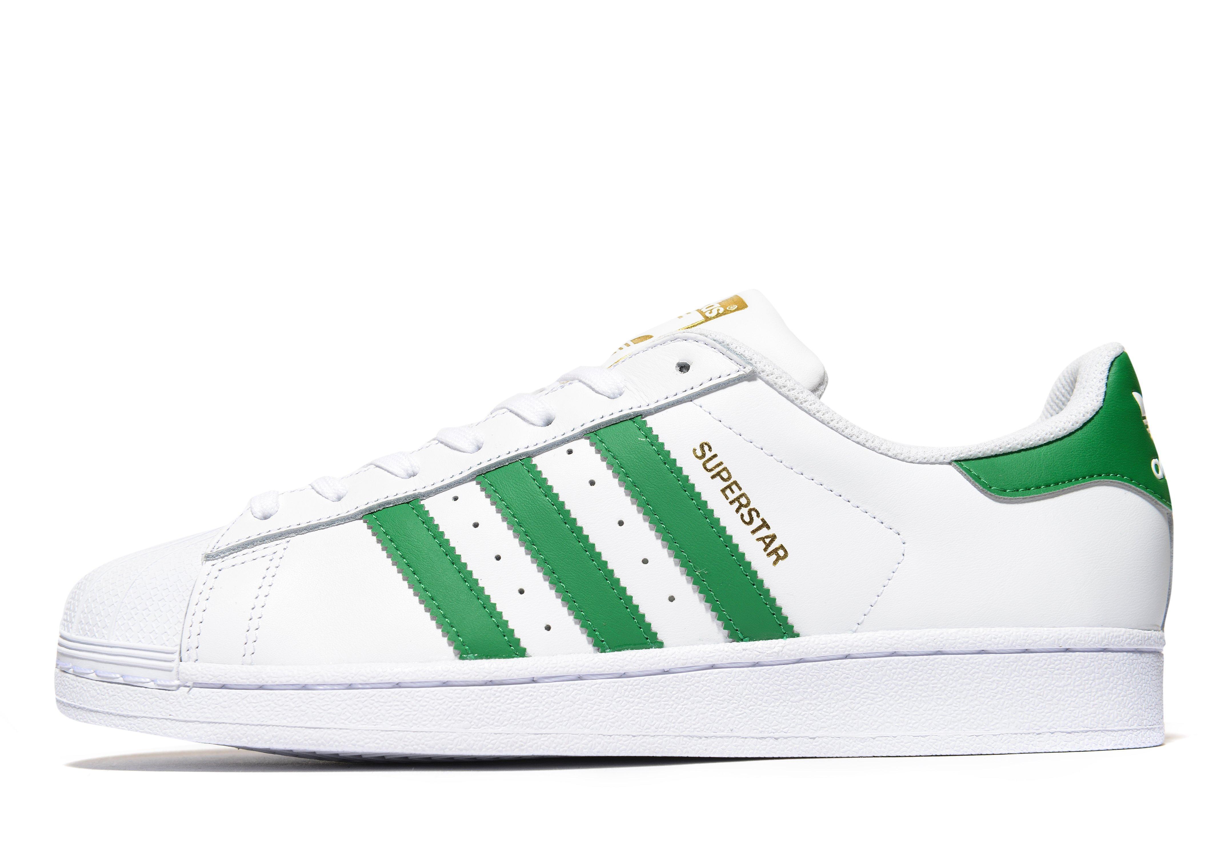 adidas Originals Superstar Foundation Footwear WhiteGreenGold