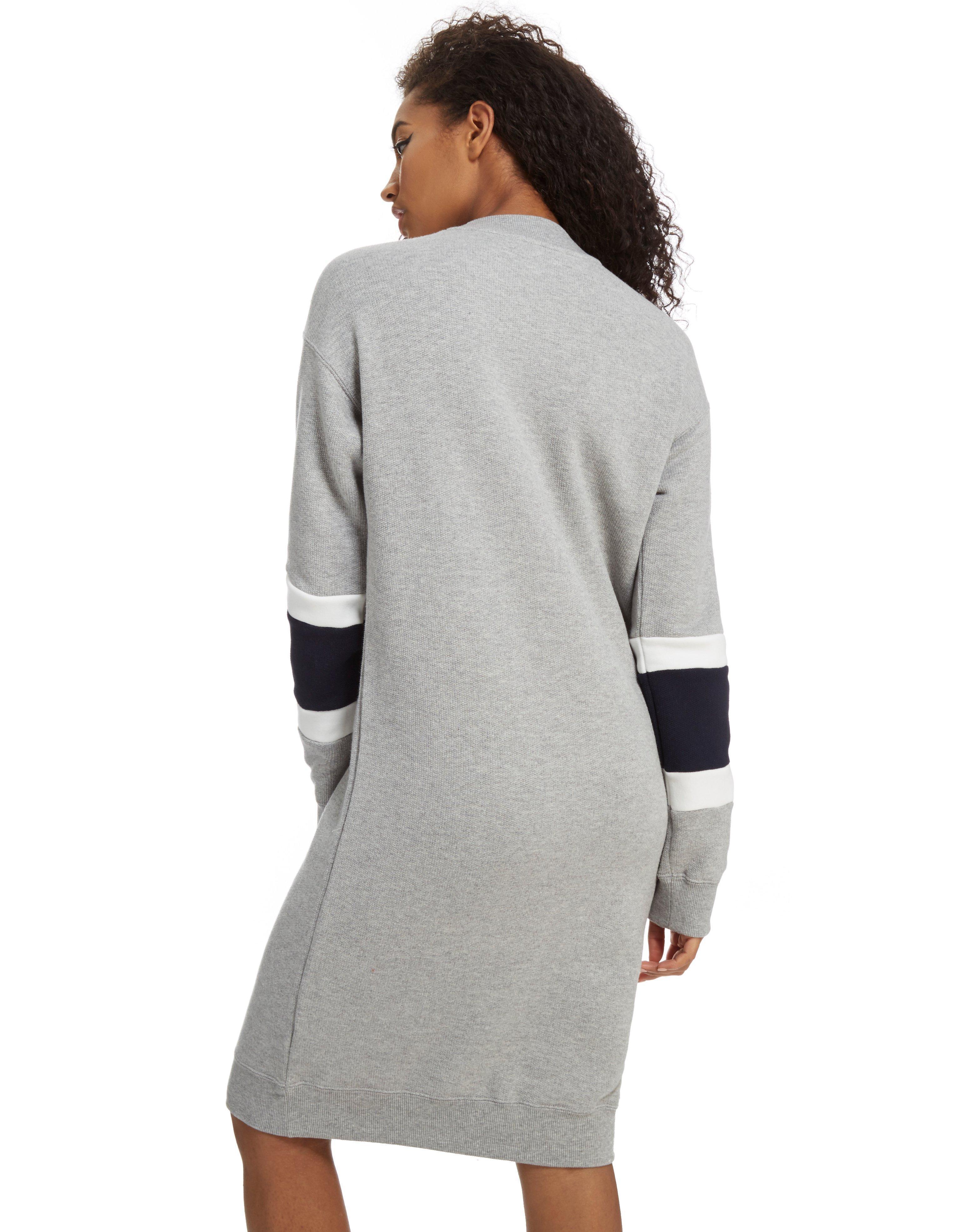 Adidas Originals High Neck Sweater Dress In Gray Lyst