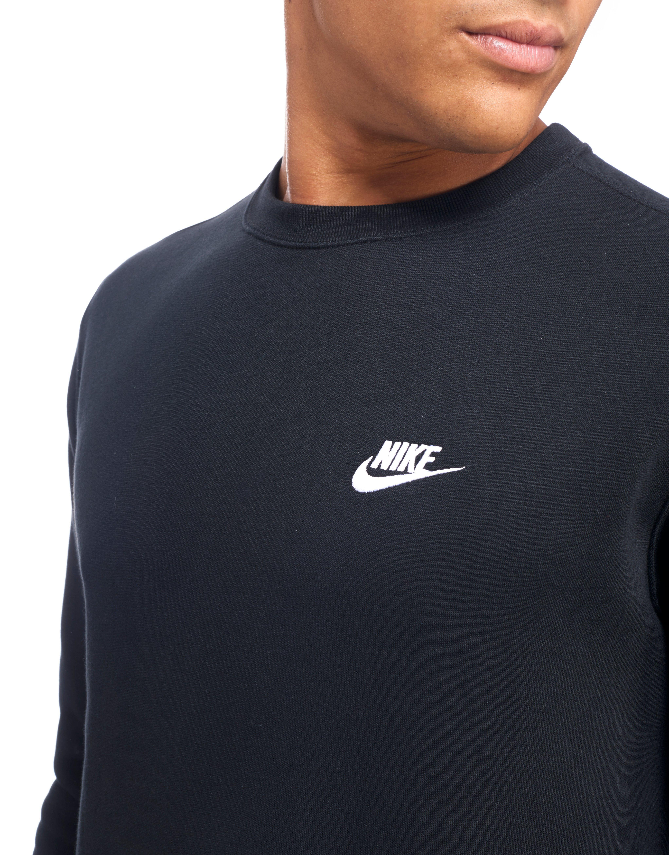 Nike Cotton Foundation Crew Sweatshirt in Black for Men