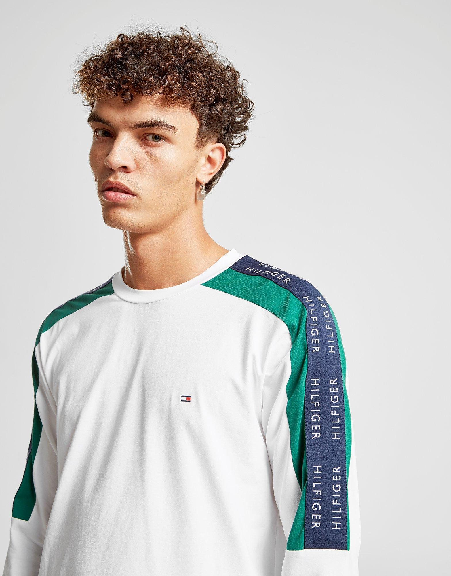 Lyst - Tommy Hilfiger Long Sleeve Tape T-shirt for Men 904b1e0075