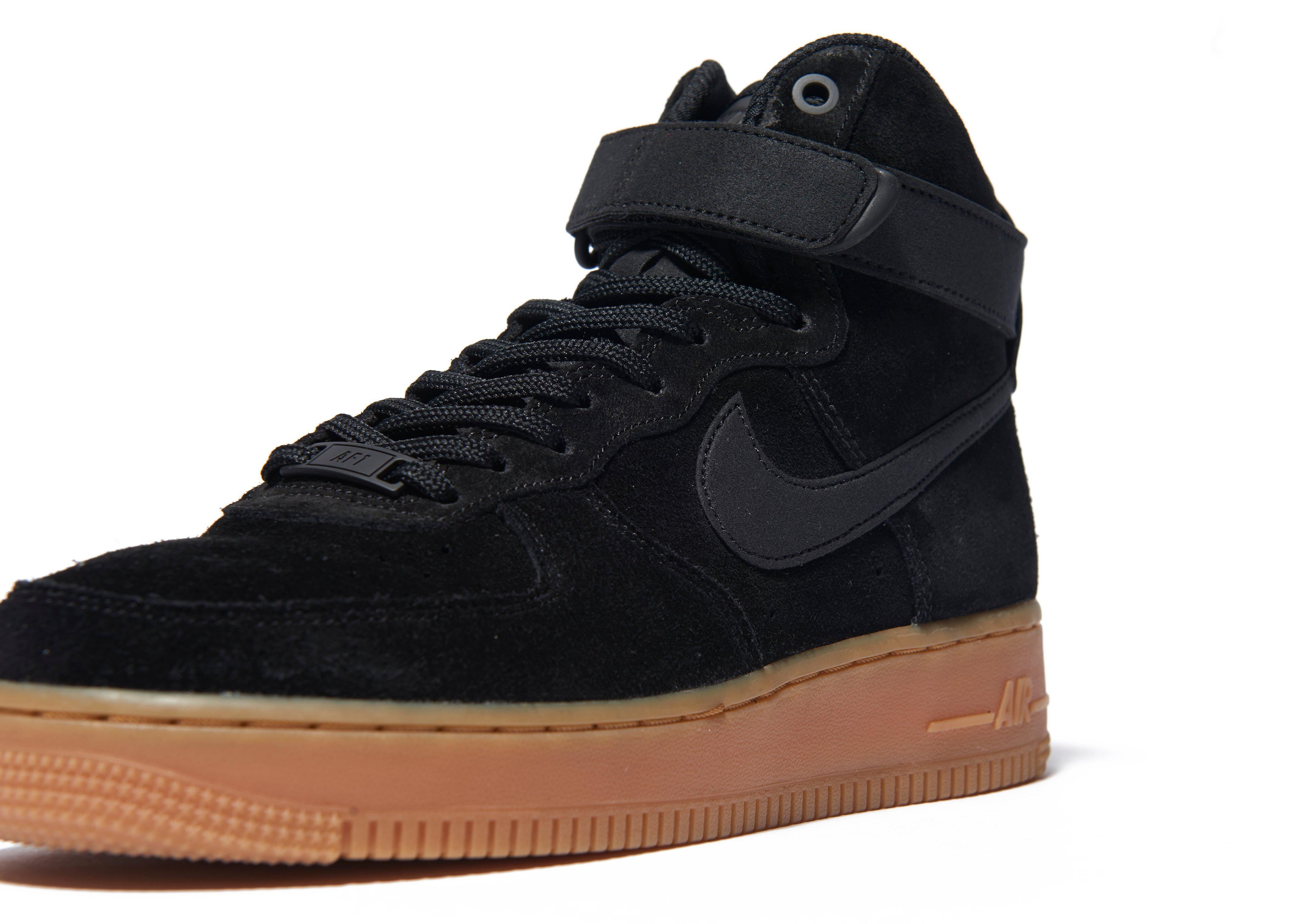 lyst nike air force 1 mid in black. Black Bedroom Furniture Sets. Home Design Ideas