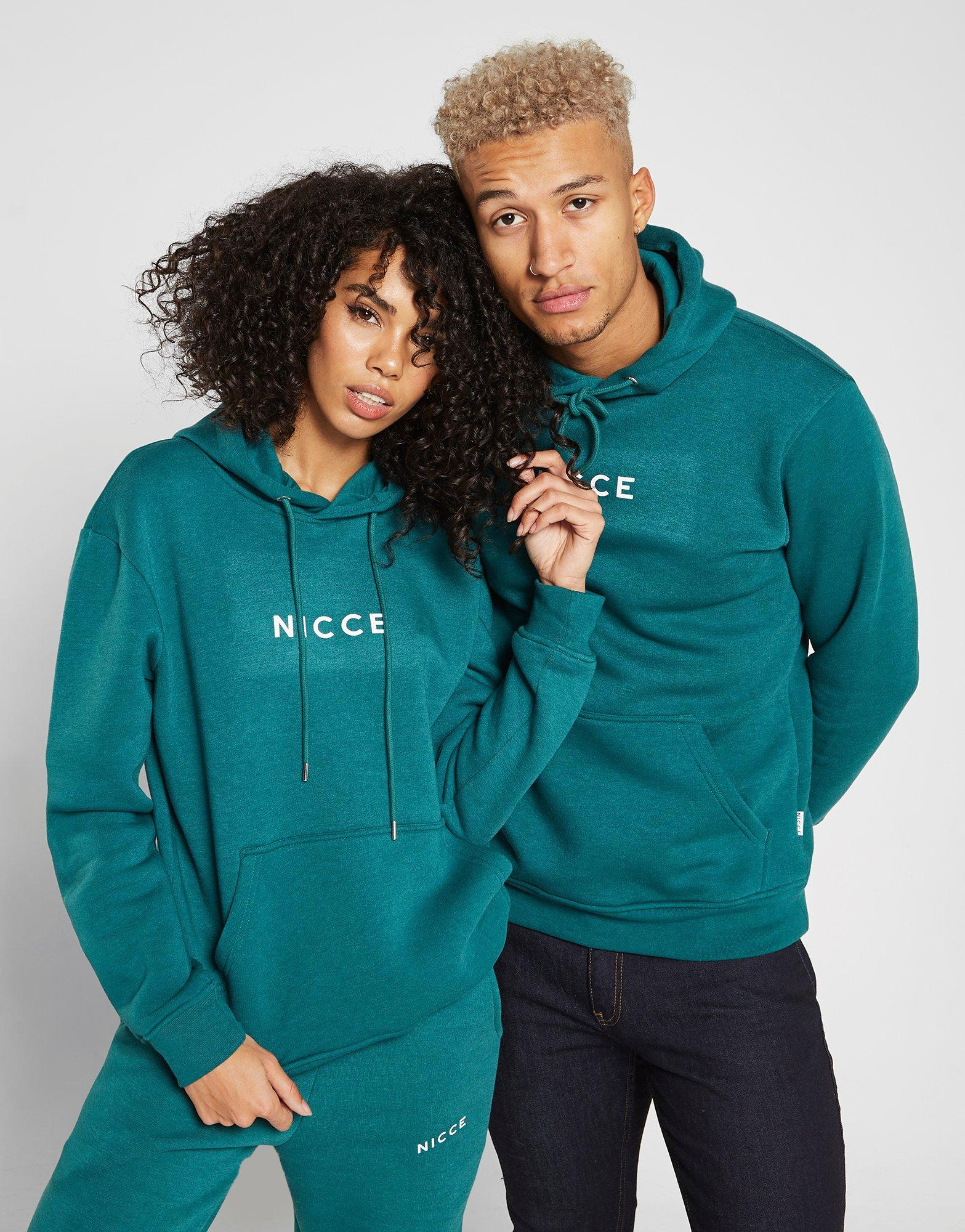 ... selection d2118 2530e Lyst - Nicce London Small Logo Boyfriend Hoodie  in Blue - Save  hot new products 1e3d1 d1393 Lyst - Champion All Over Print  Script ... d4d1ee406de3