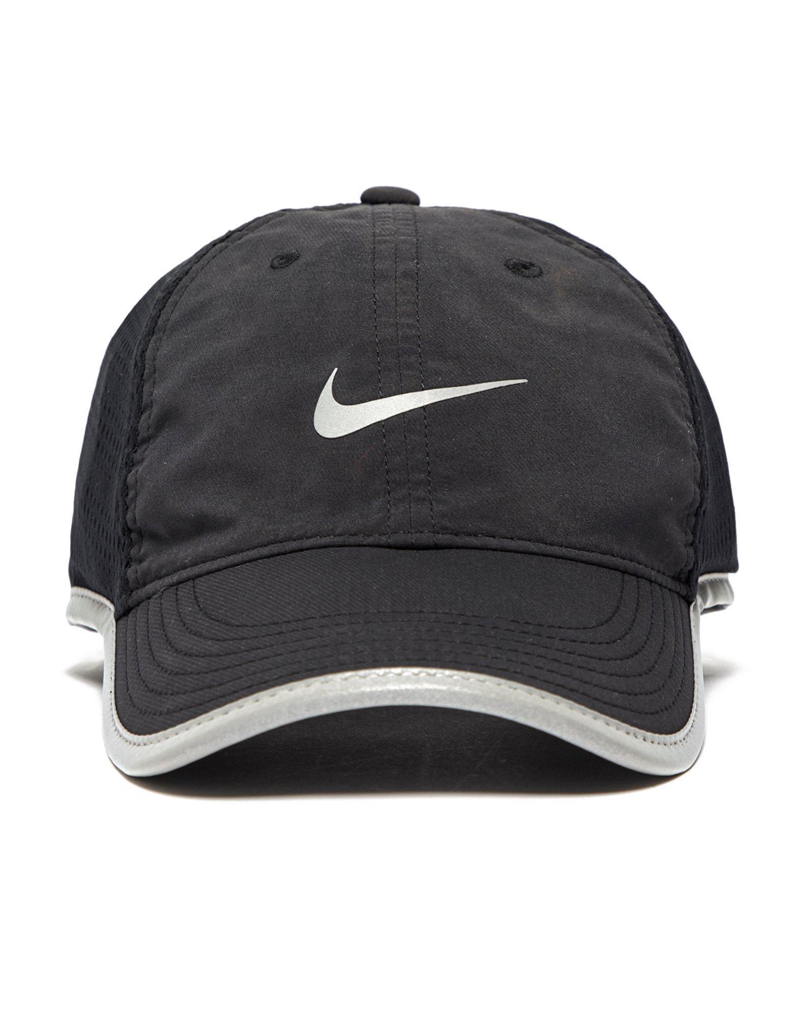 Lyst - Nike Knit Mesh Running Cap in Black for Men ee318ad402f