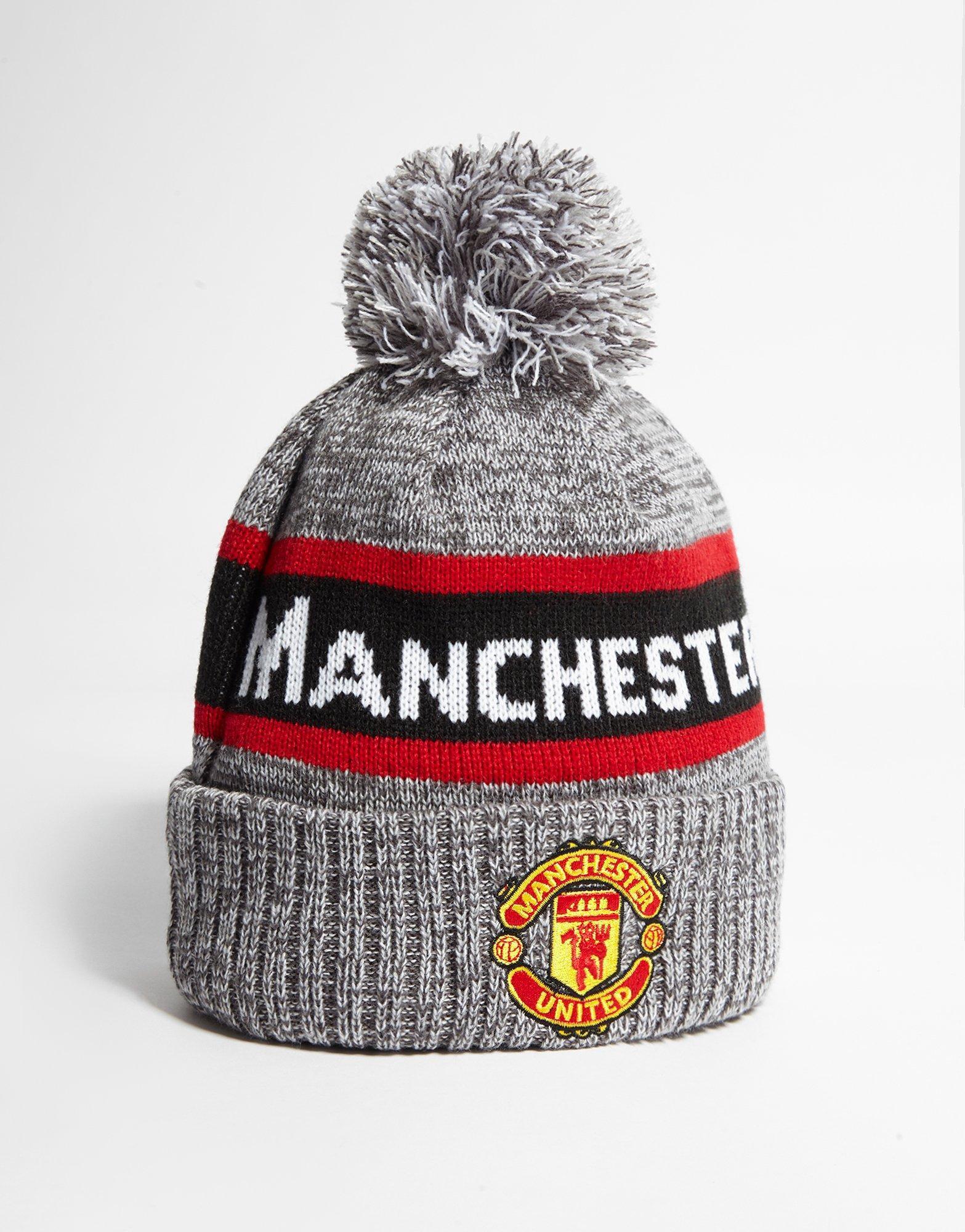 0ab41e728eb602 Lyst - Ktz Manchester United Fc Jake Bobble Hat in Red for Men