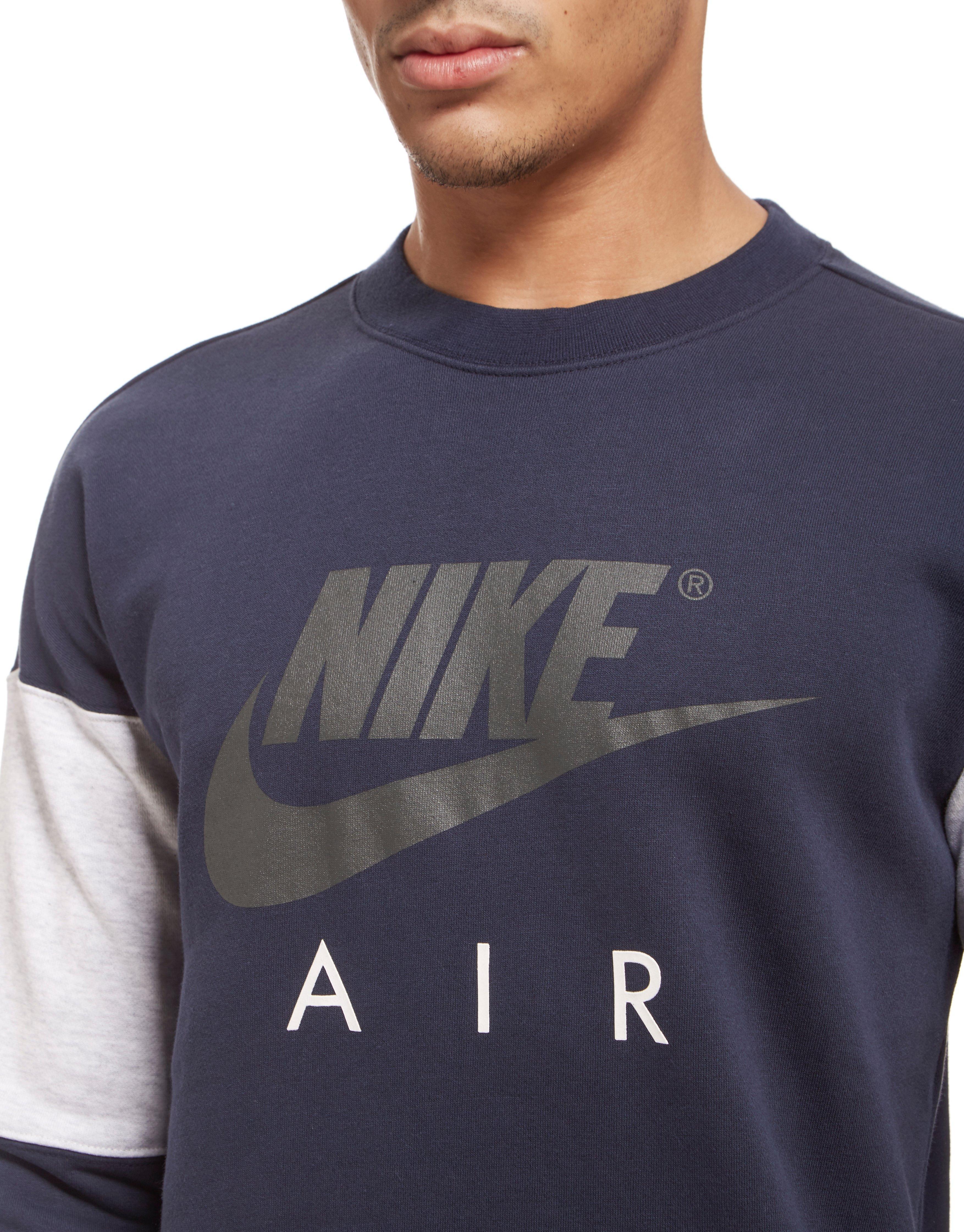 Nike Air Fleece Crew Sweatshirt in Blue