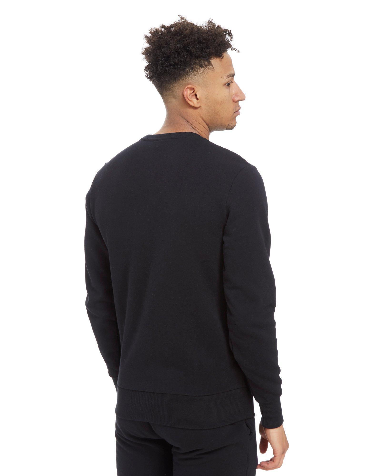 Ellesse Cotton Diveria Crew Sweatshirt in Black for Men