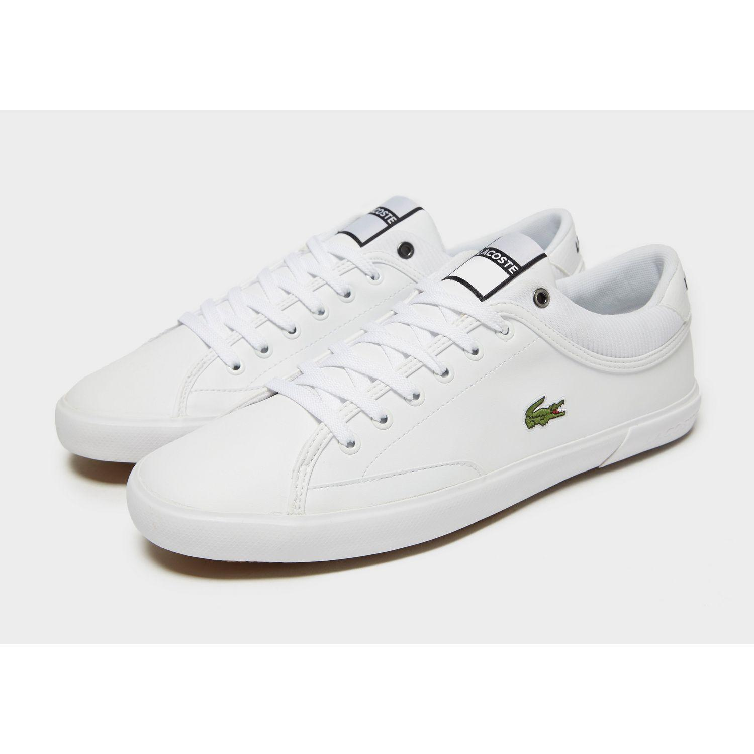 Lacoste Leather Angha in White for Men