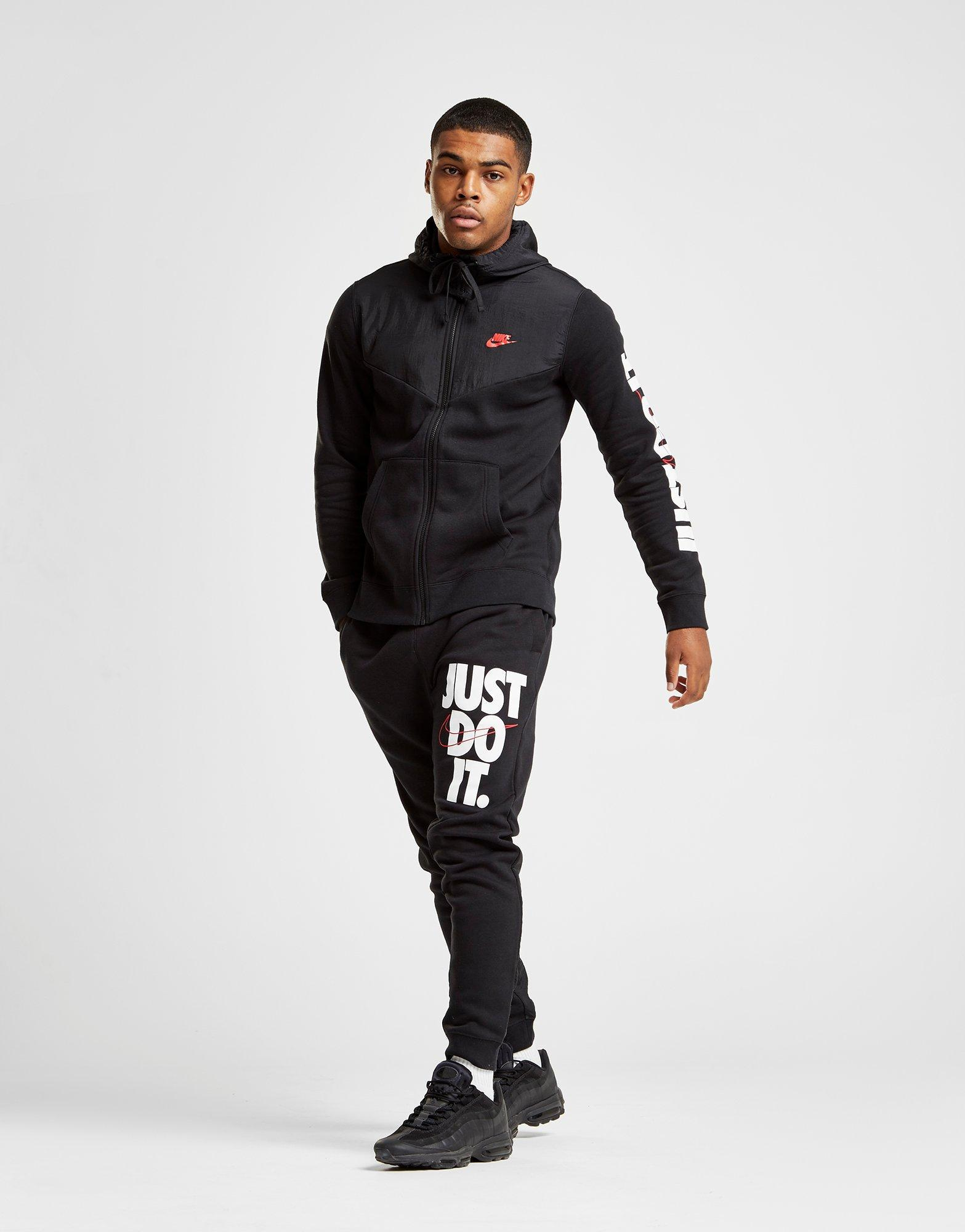 Nike Cotton 'just Do It' Leg Logo Track