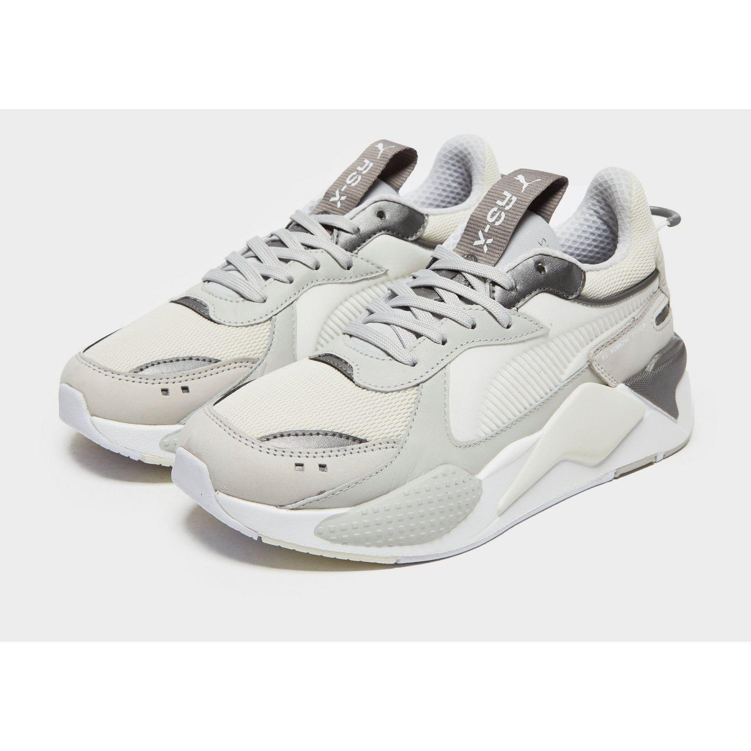 PUMA Leather Rs X Trophy in White/Cream