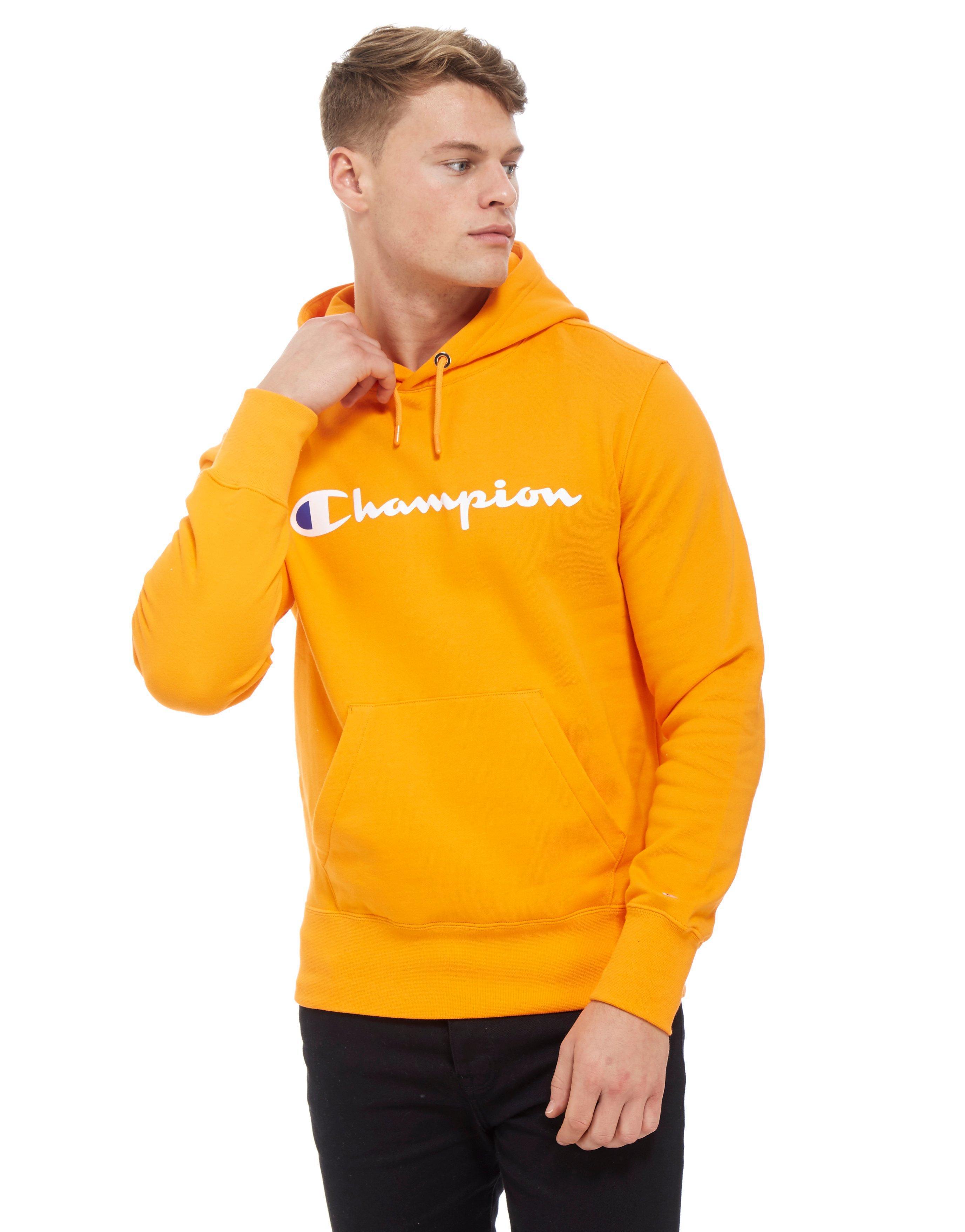 Orange Champion Overhead Men Core For Hoodie Script QChtrdosBx