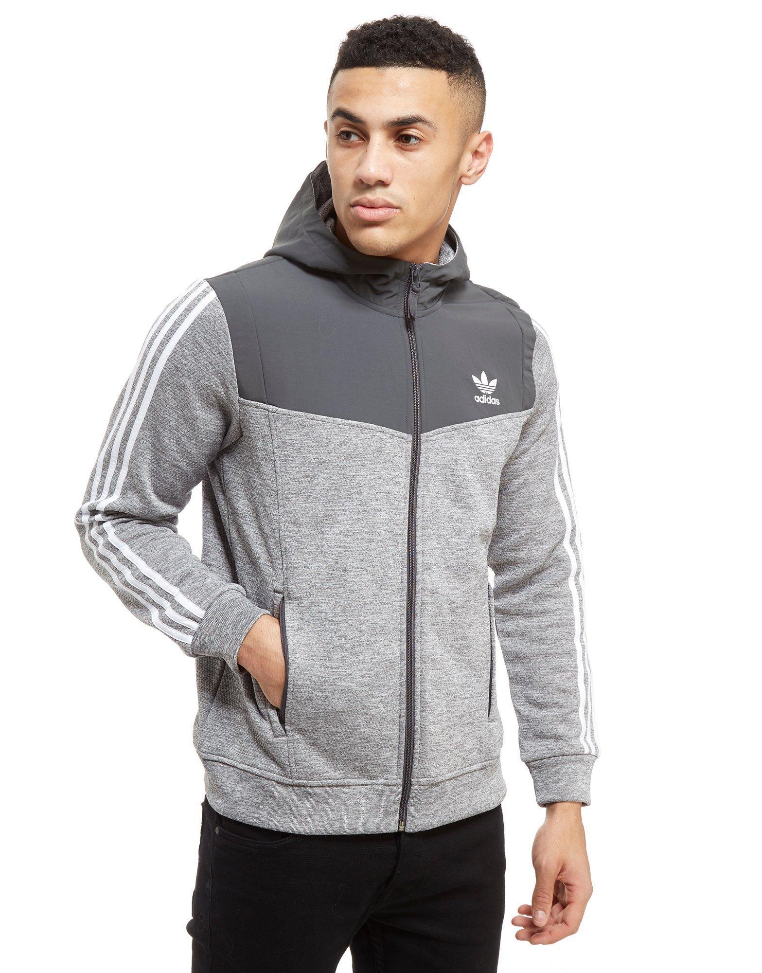 Adidas Originals Gray Nova Woven Hoodie for men