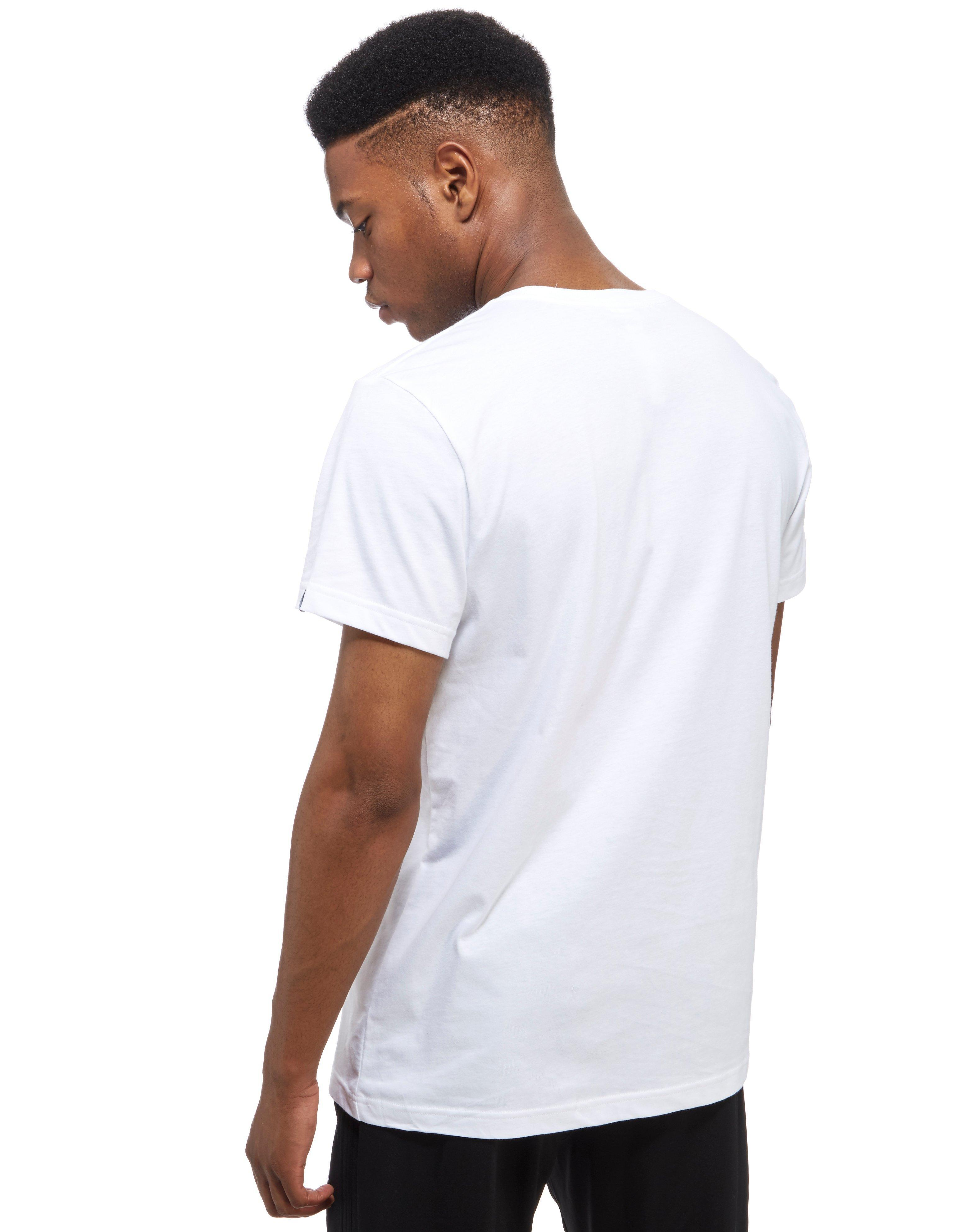 lyst adidas 3 lines bos t shirt in white for men. Black Bedroom Furniture Sets. Home Design Ideas