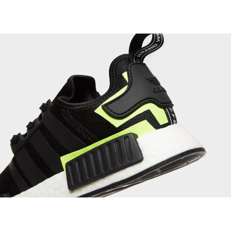 Adidas Originals Synthetic Nmd R1 In Black Green Black For Men