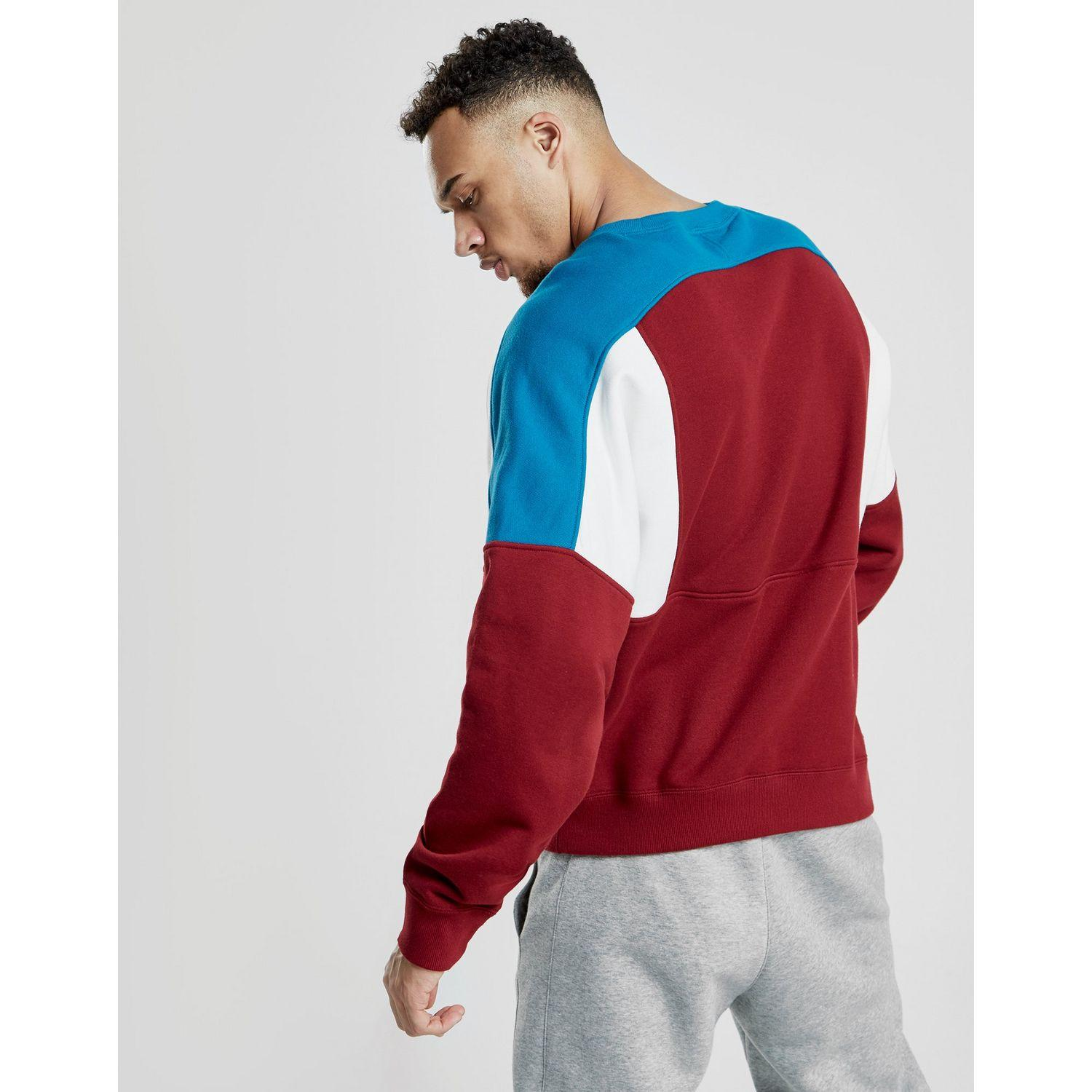 medio litro cosa galope  Nike Cotton Reissue Crew Sweatshirt in Red/Blue (Red) for Men - Lyst