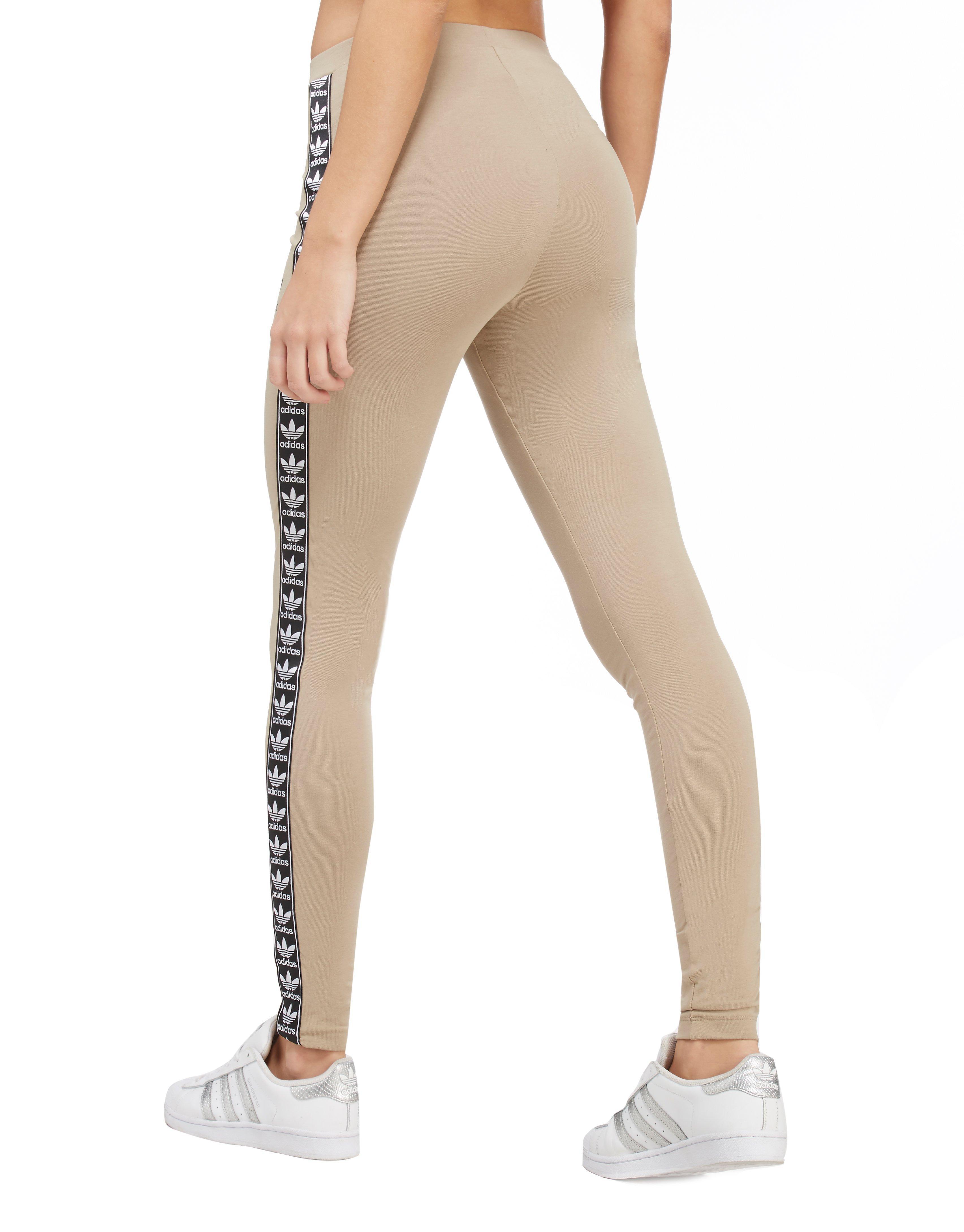 628db93728bab6 adidas Originals Tape Leggings in Natural - Lyst