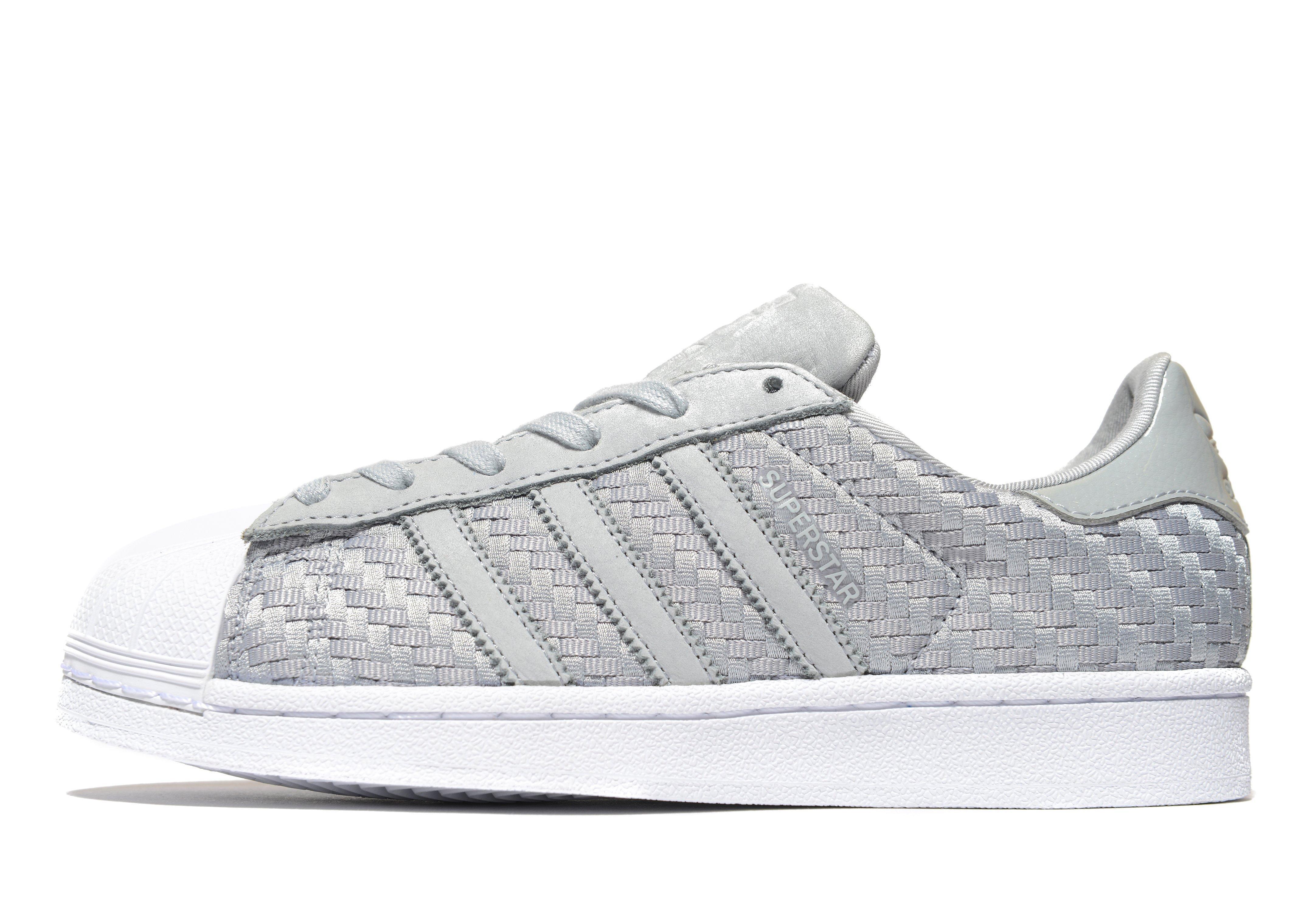 Adidas Originals Gray Superstar Woven