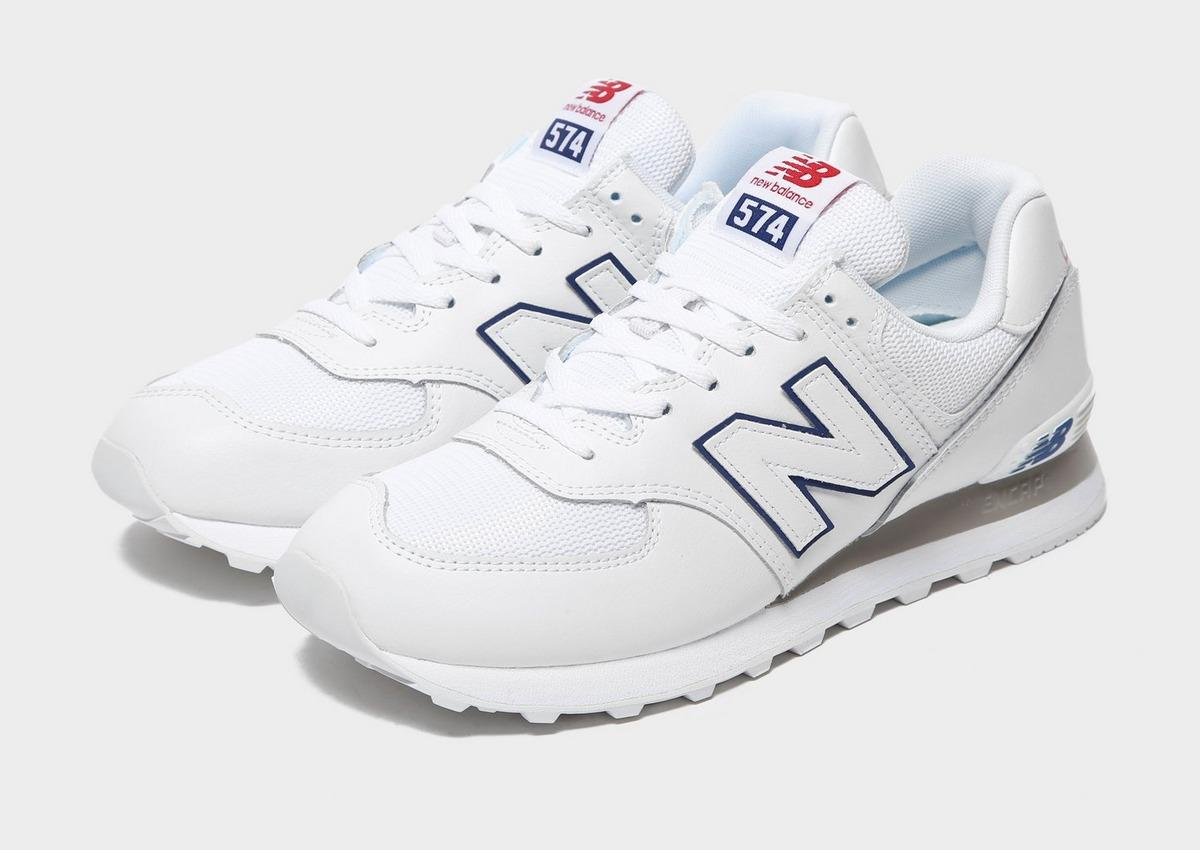 New Balance Leather 574 in White for Men - Lyst