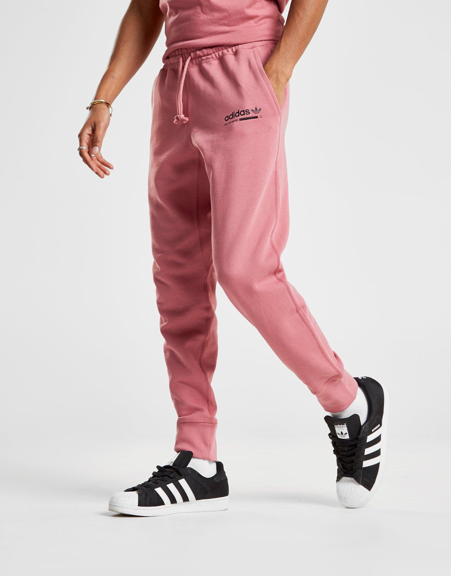 795dde6ff48 adidas Originals Kaval Cuffed Fleece Pants in Pink for Men - Lyst