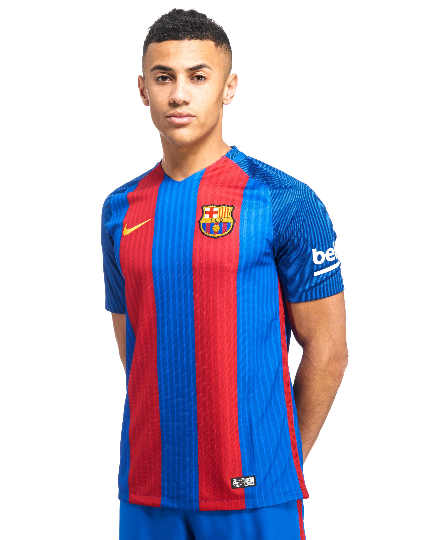 Lyst nike fc barcelona 2016 17 home shirt in blue for men for Blue barcelona