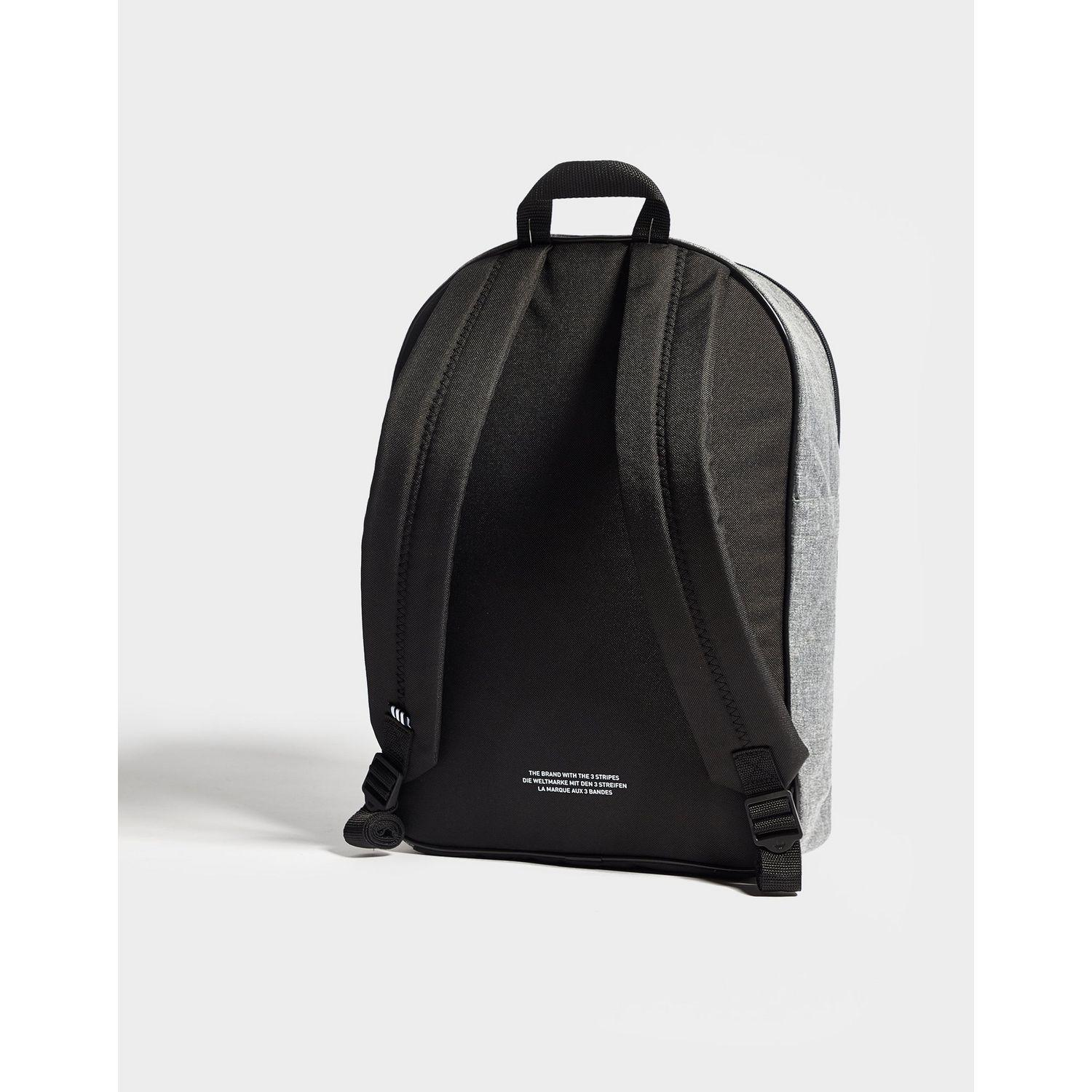adidas Originals Synthetic Classic Trefoil Backpack in Grey/Black/White (Black) for Men