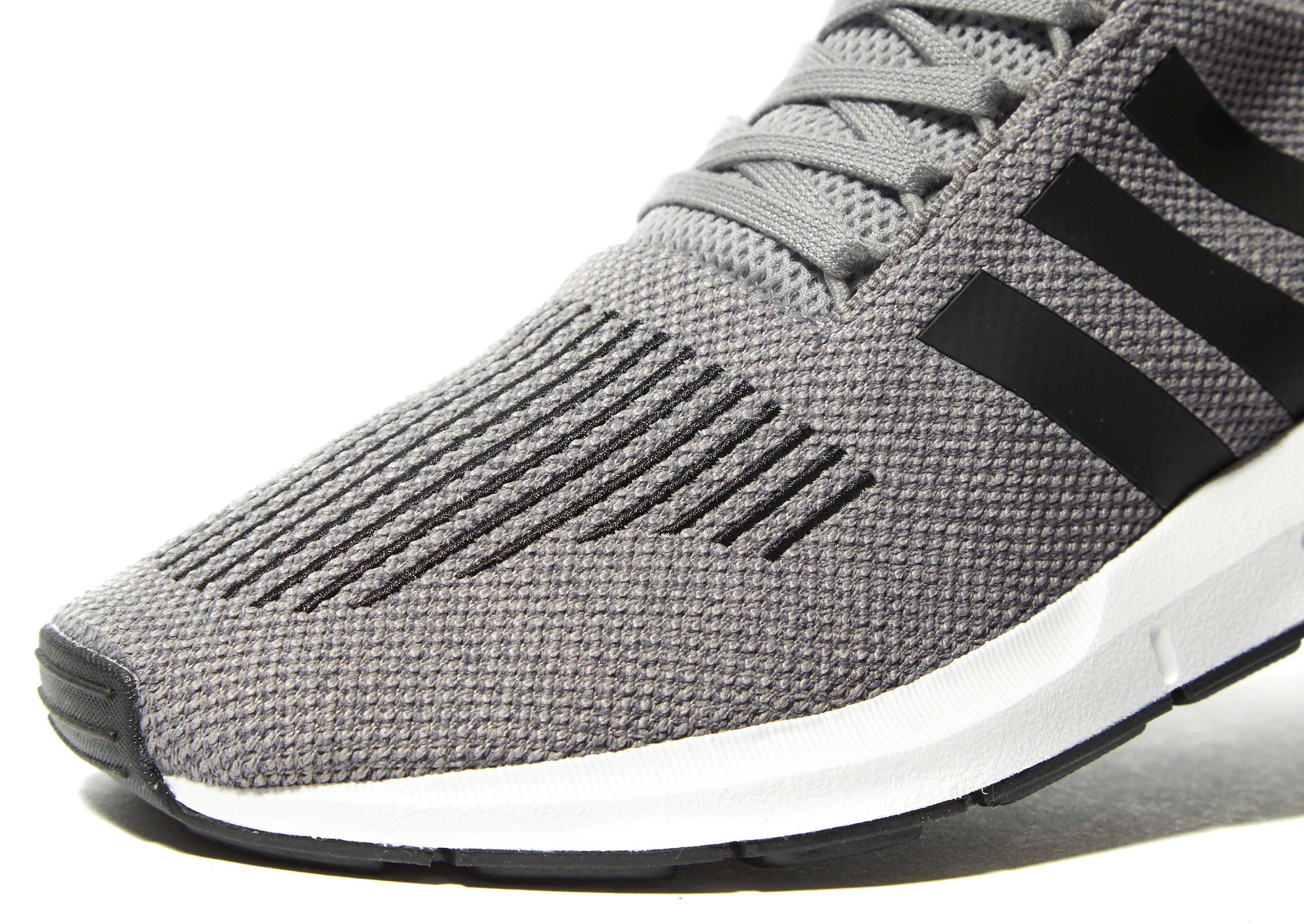 adidas Originals Synthetic Swift Run in Grey/Black/White (Grey) for Men