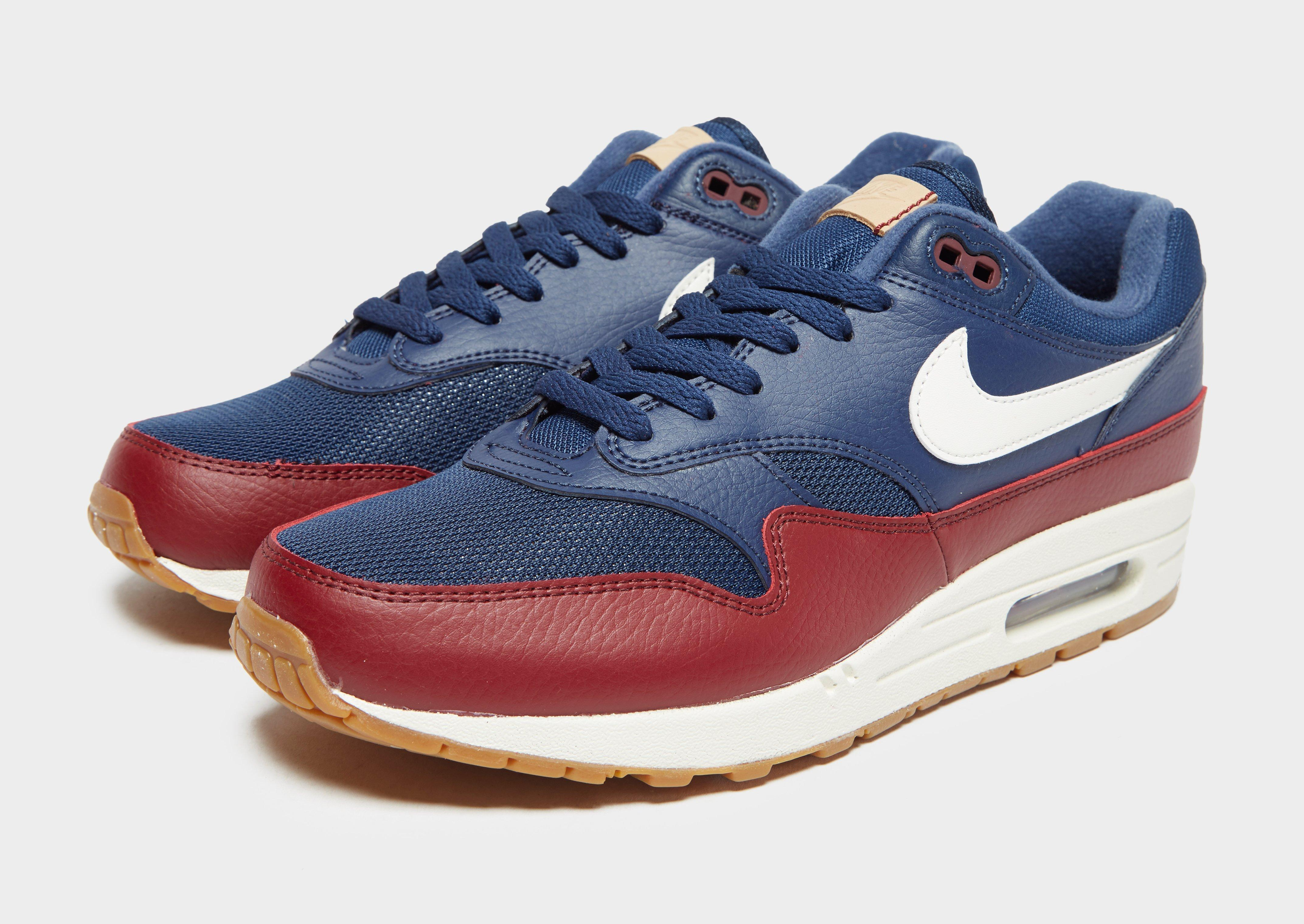 Nike Leather Air Max 1 Essential in Blue/Red (Blue) for Men - Lyst