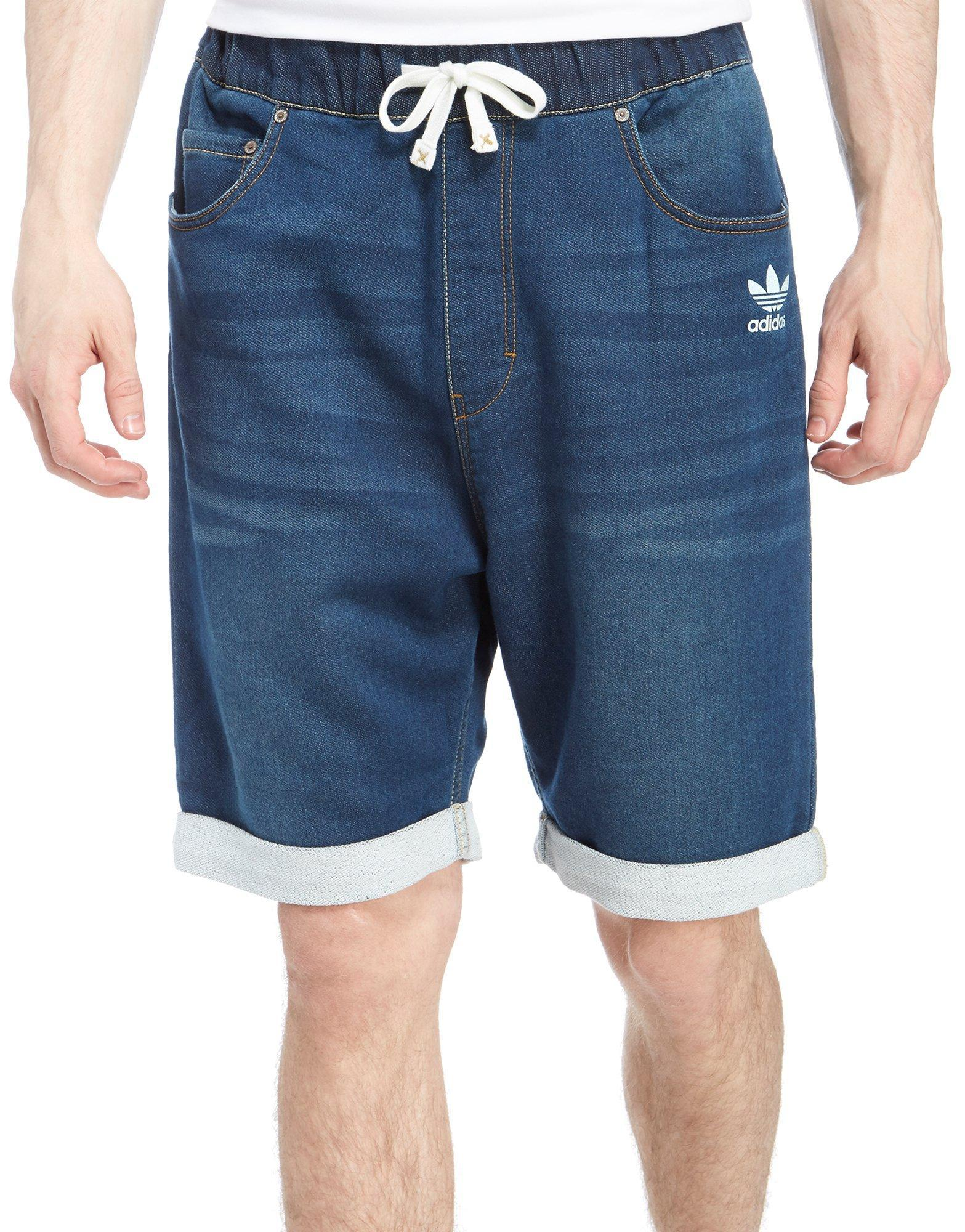 adidas originals denim shorts