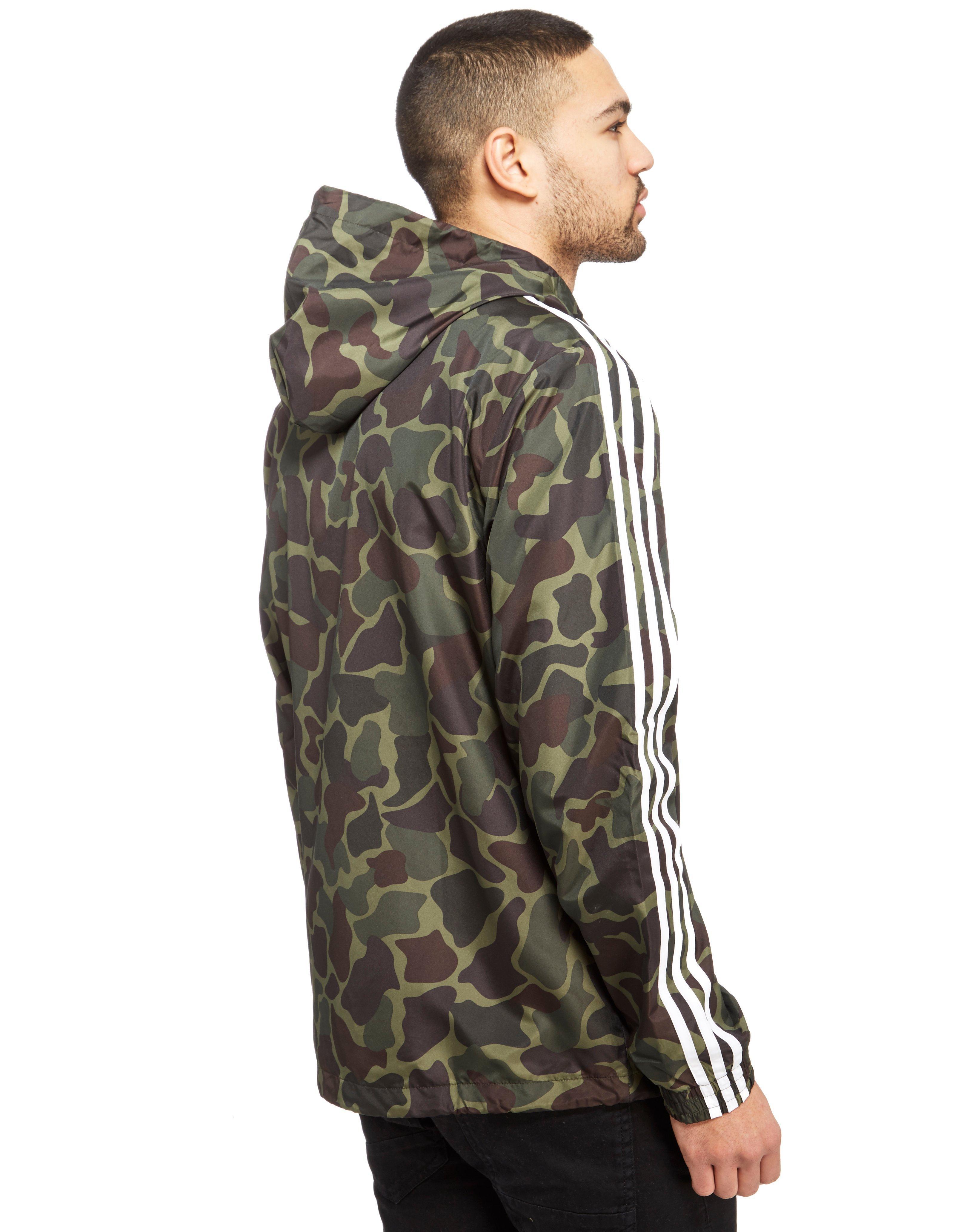 9cea6c2d11898 adidas Originals Trefoil All Over Print Lightweight Jacket in Green ...