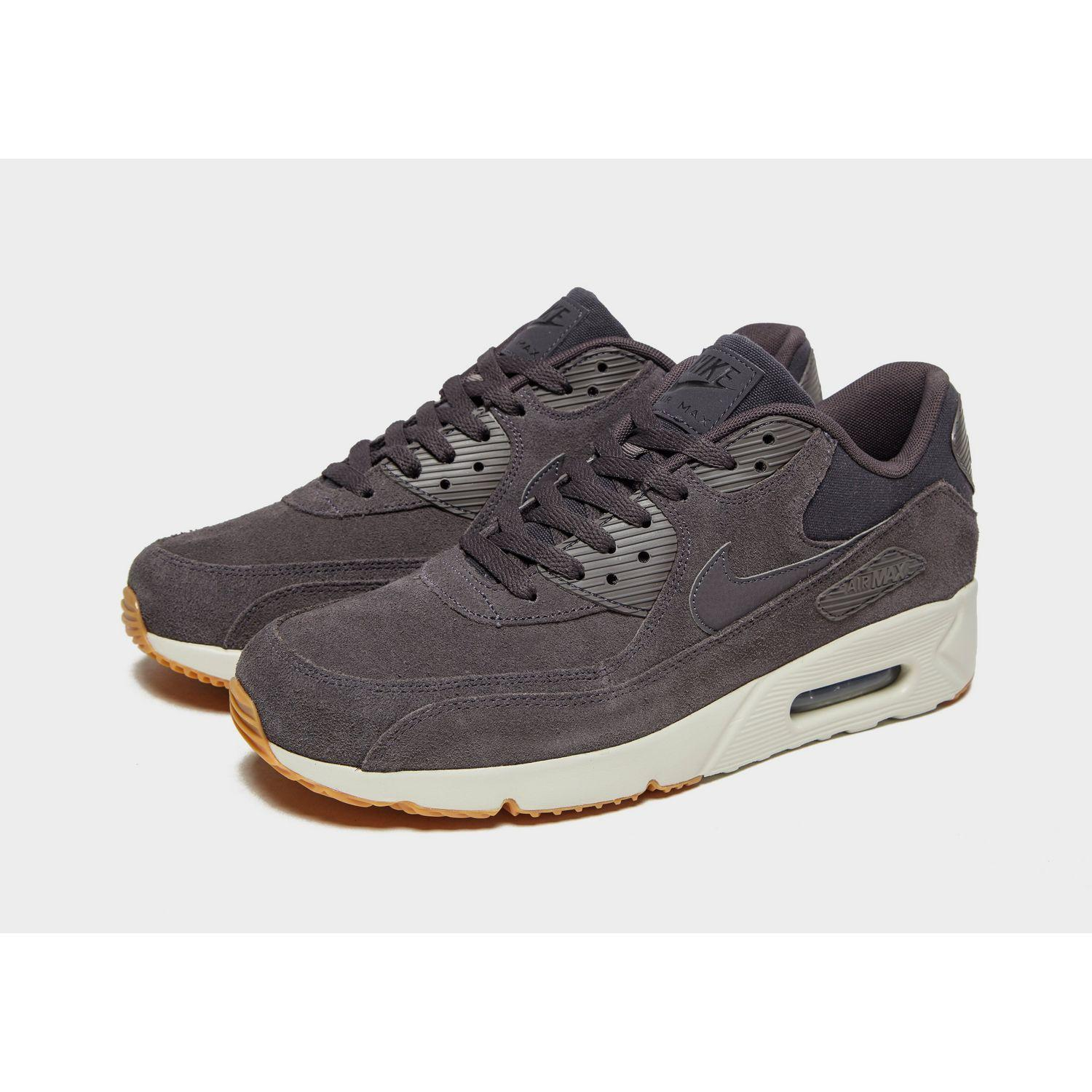 Nike Air Max 90 Ultra Suede in Grey/White (Gray) for Men - Lyst
