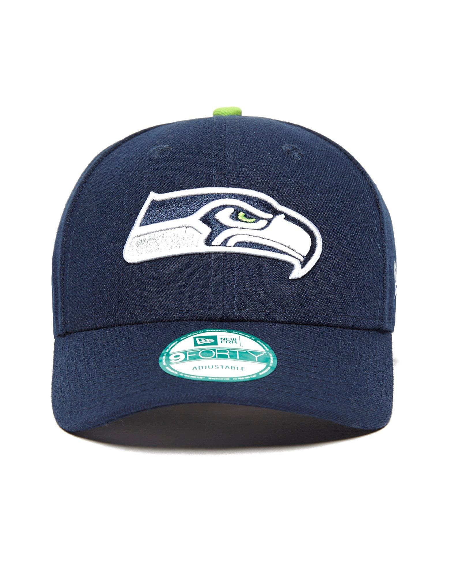 the latest 6d731 fd8c0 ... promo code for ktz. mens blue 9forty nfl seattle seahawks strapback cap  adae8 09fd6