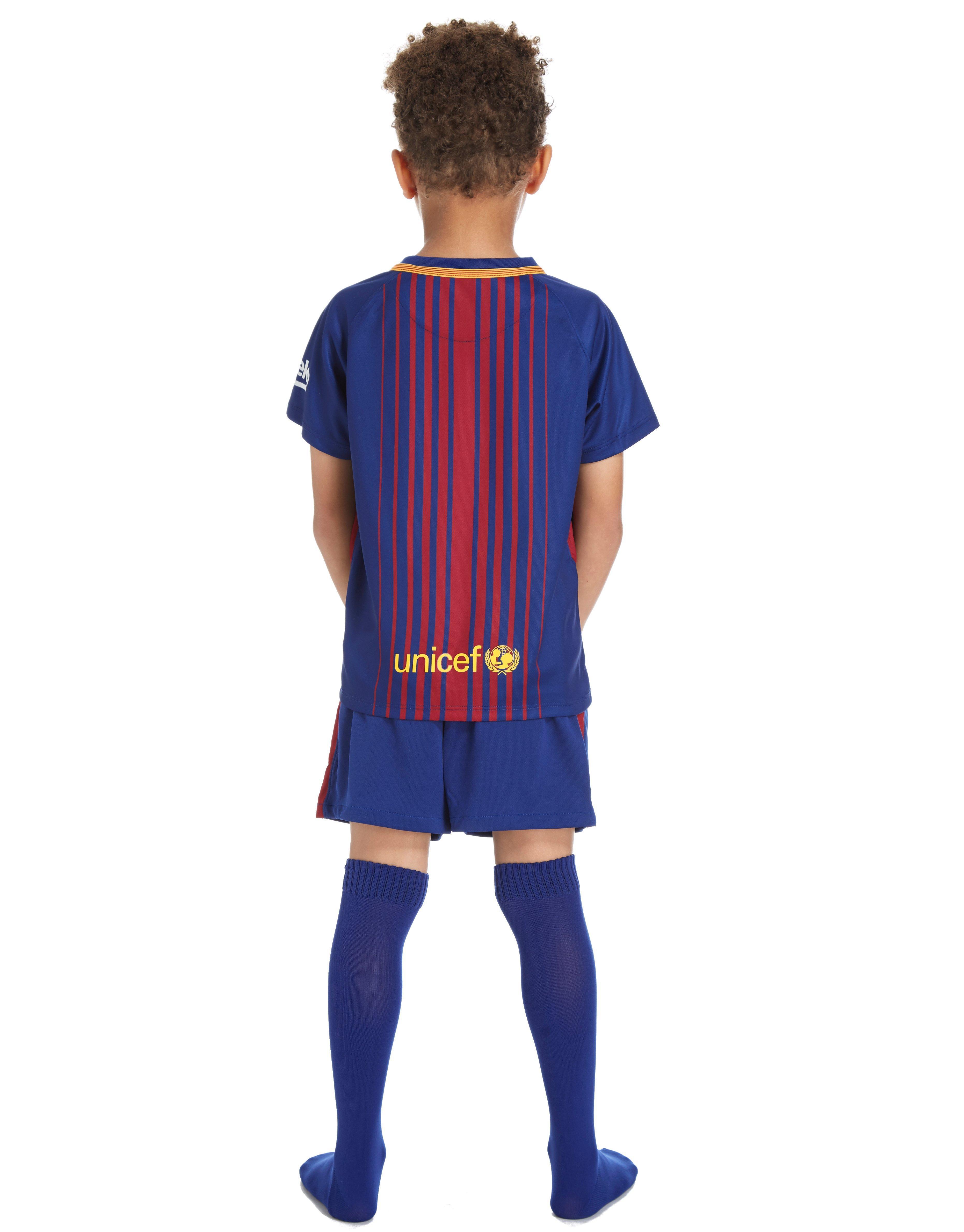 Nike Fc Barcelona 2017/18 Home Kit Children in Blue for ...