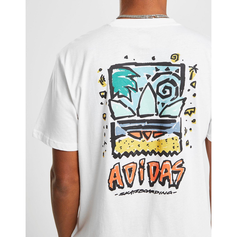 codo Anticuado honor  adidas Originals Cotton Skateboarding Roanoke Short Sleeve T-shirt in White  for Men - Lyst